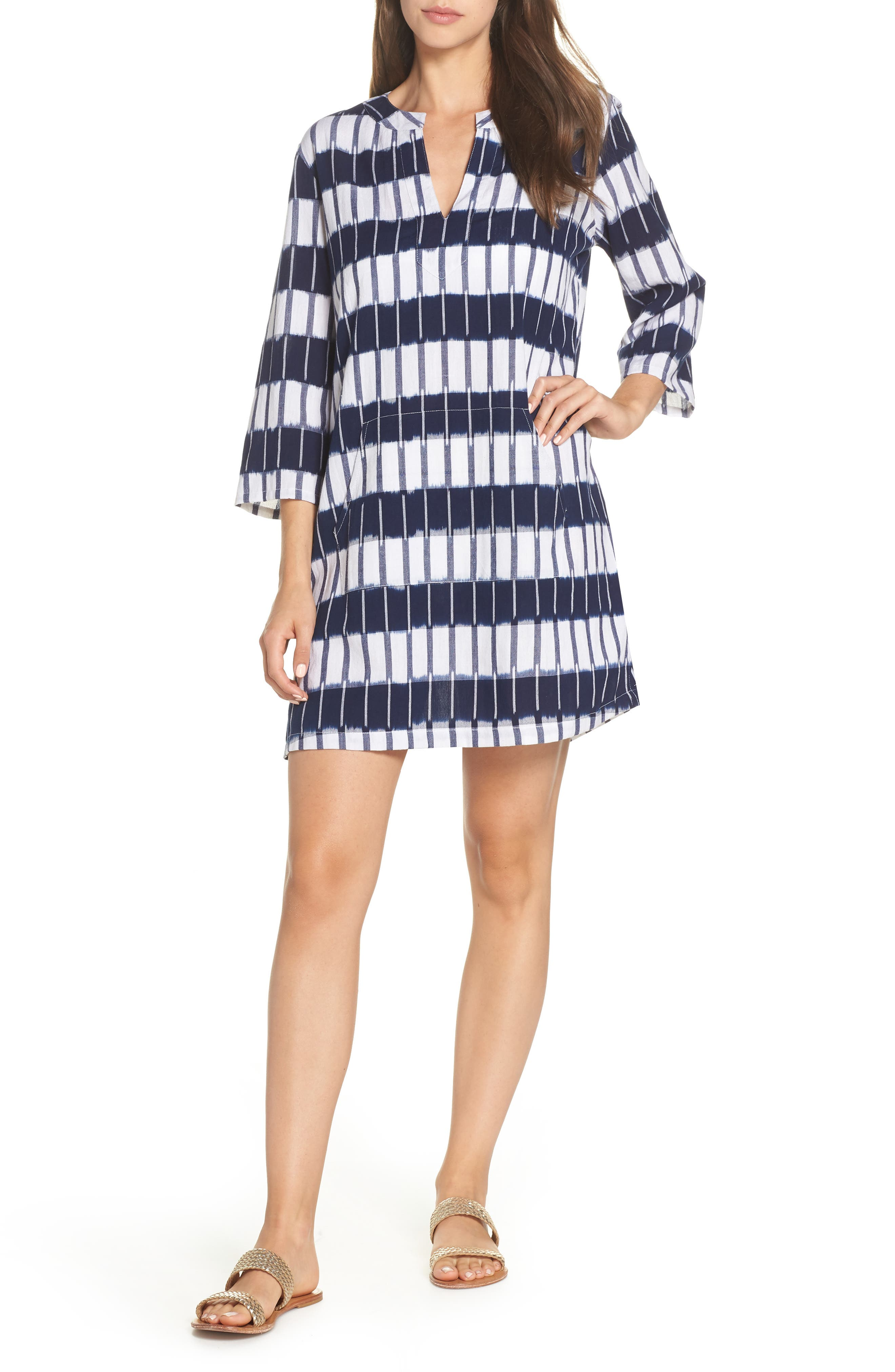 Tommy Bahama Indigo Ikat Cover-Up Tunic