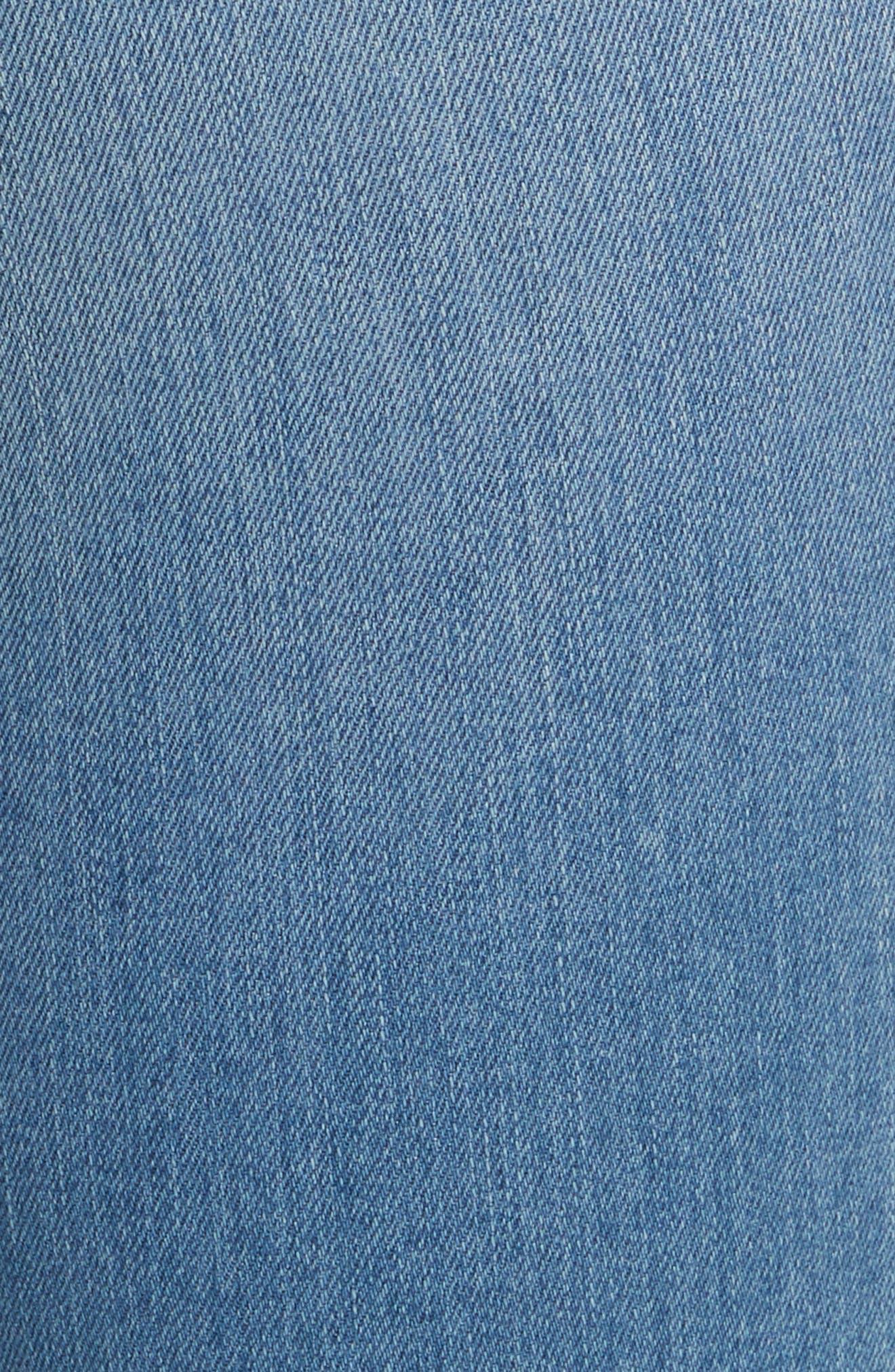 Debbie High Waist Fray Hem Jeans,                             Alternate thumbnail 5, color,