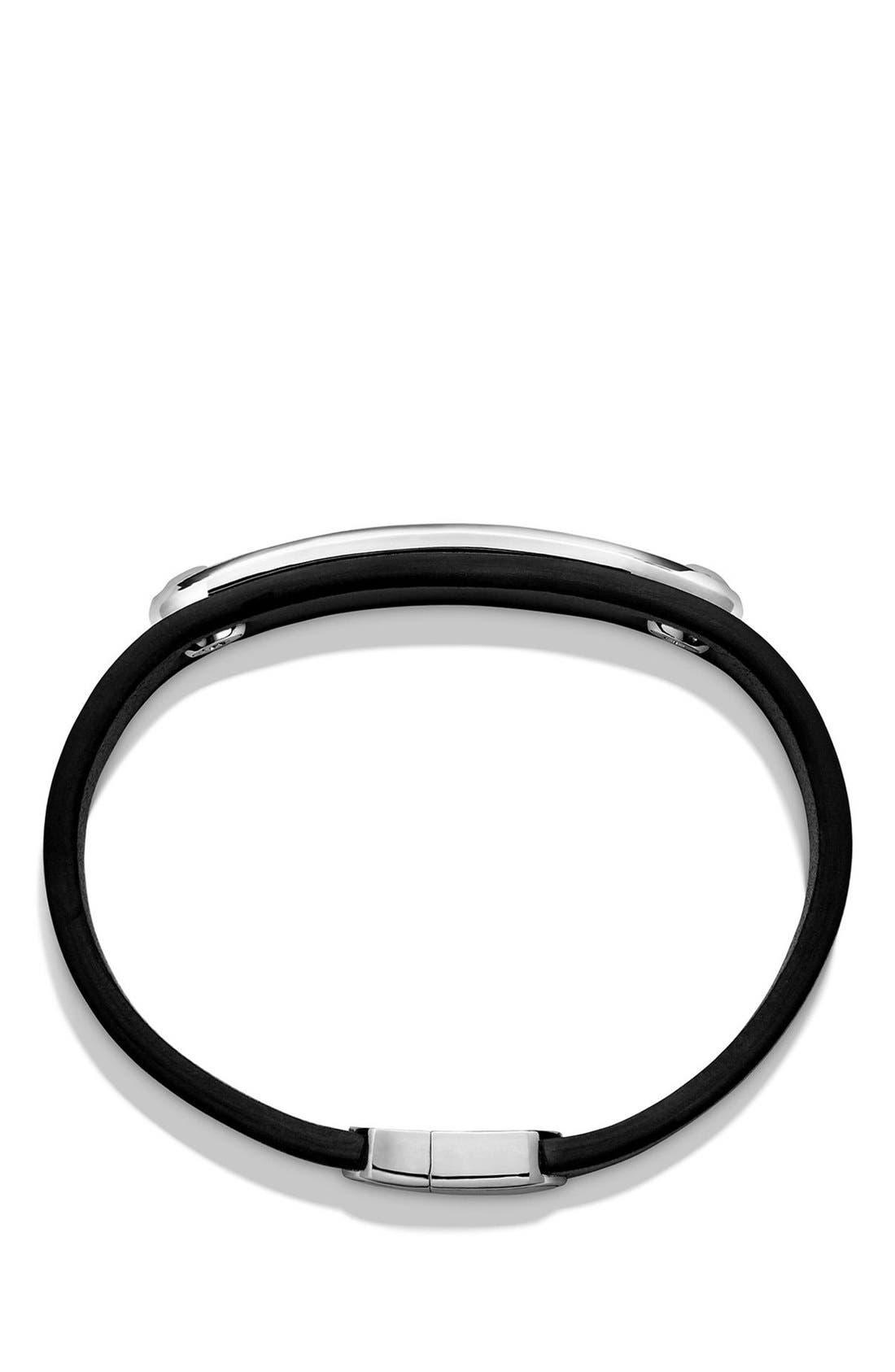 Graphic Cable Leather ID Bracelet,                             Alternate thumbnail 2, color,                             041