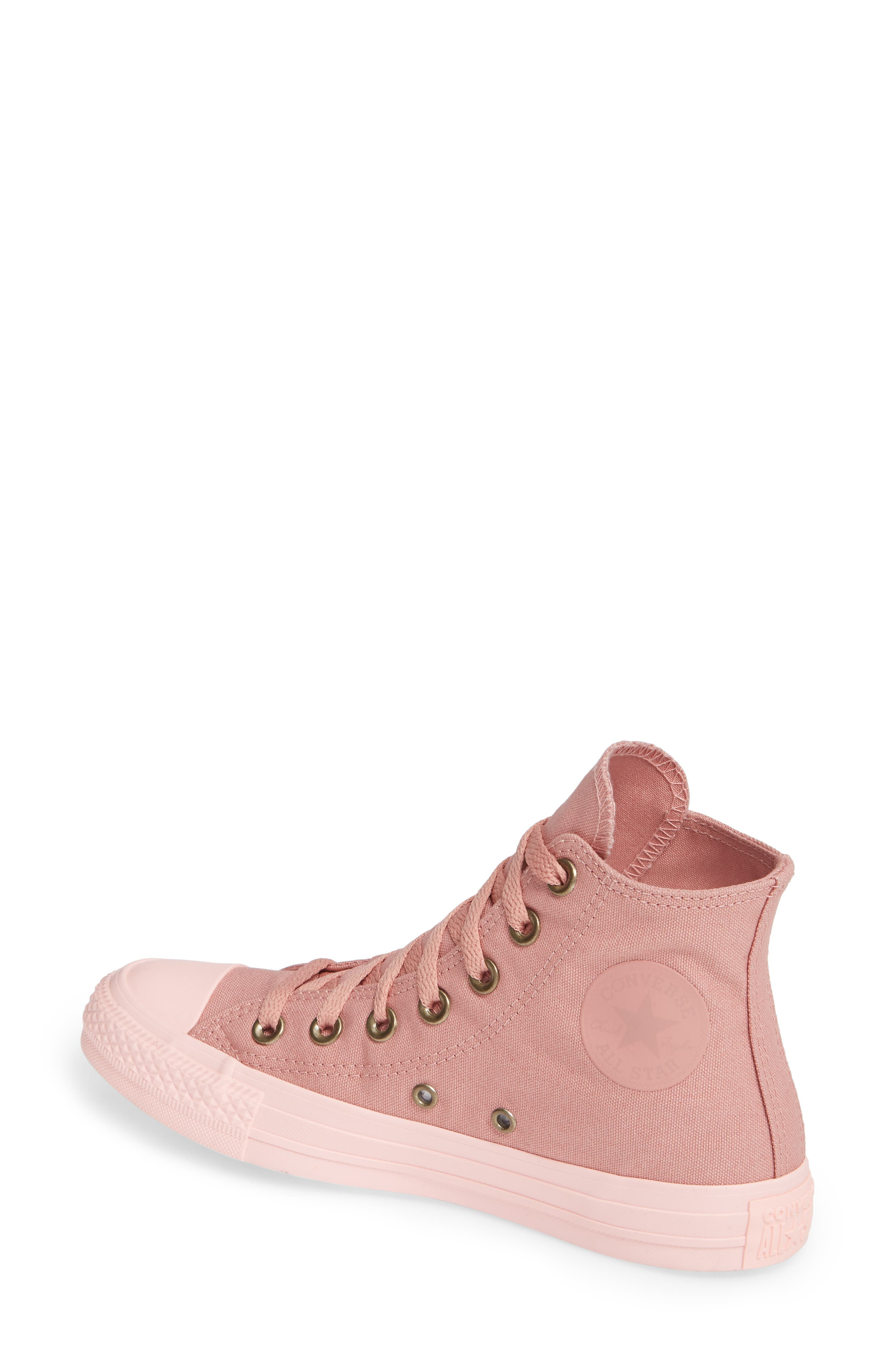 Chuck Taylor<sup>®</sup> All Star<sup>®</sup> Botanical High Top Sneaker,                             Alternate thumbnail 2, color,                             RUST PINK
