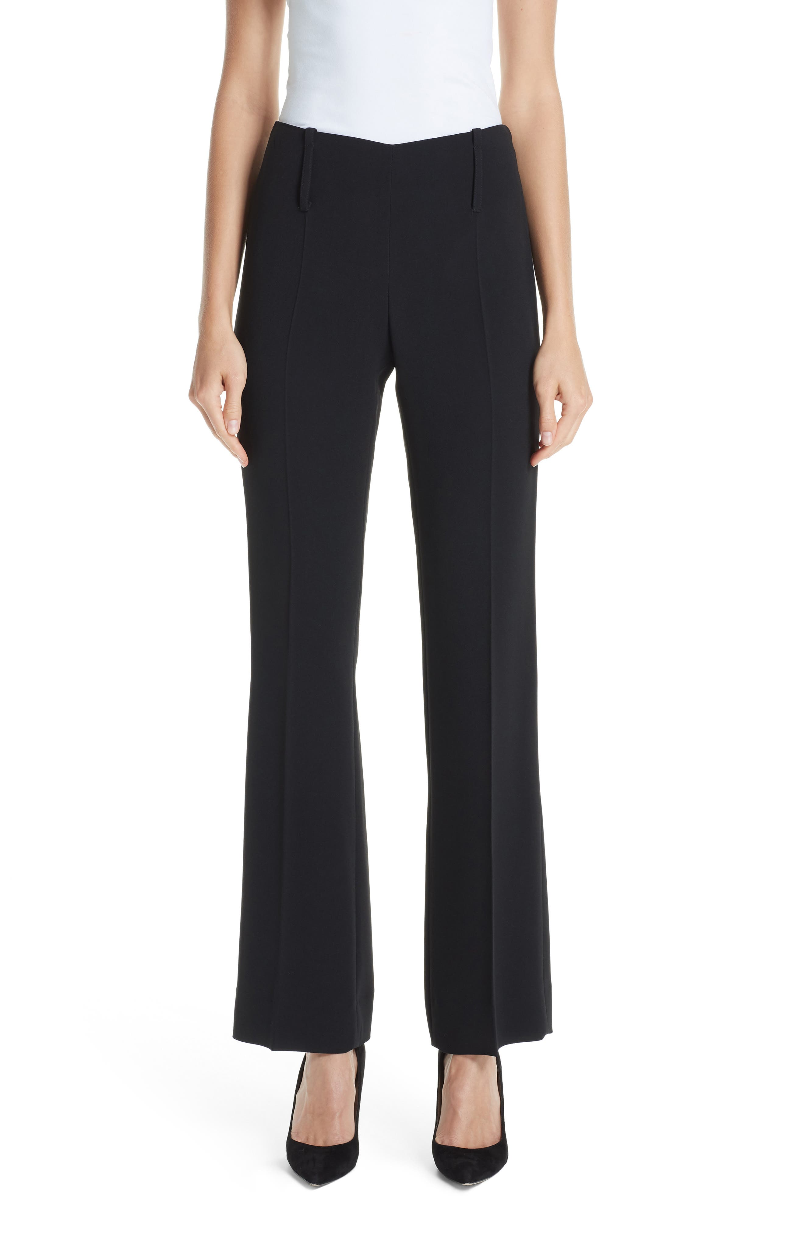 Emporio Armani Flare Pants, 8 IT - Black