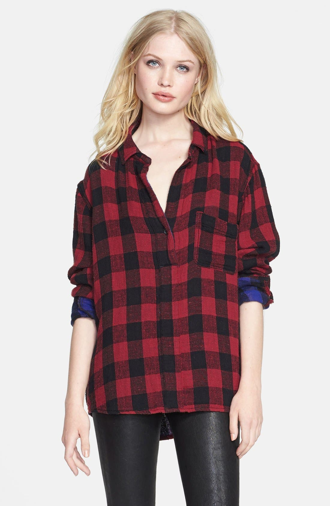 JEAN 'The Leeds' Plaid Shirt,                             Main thumbnail 1, color,                             600