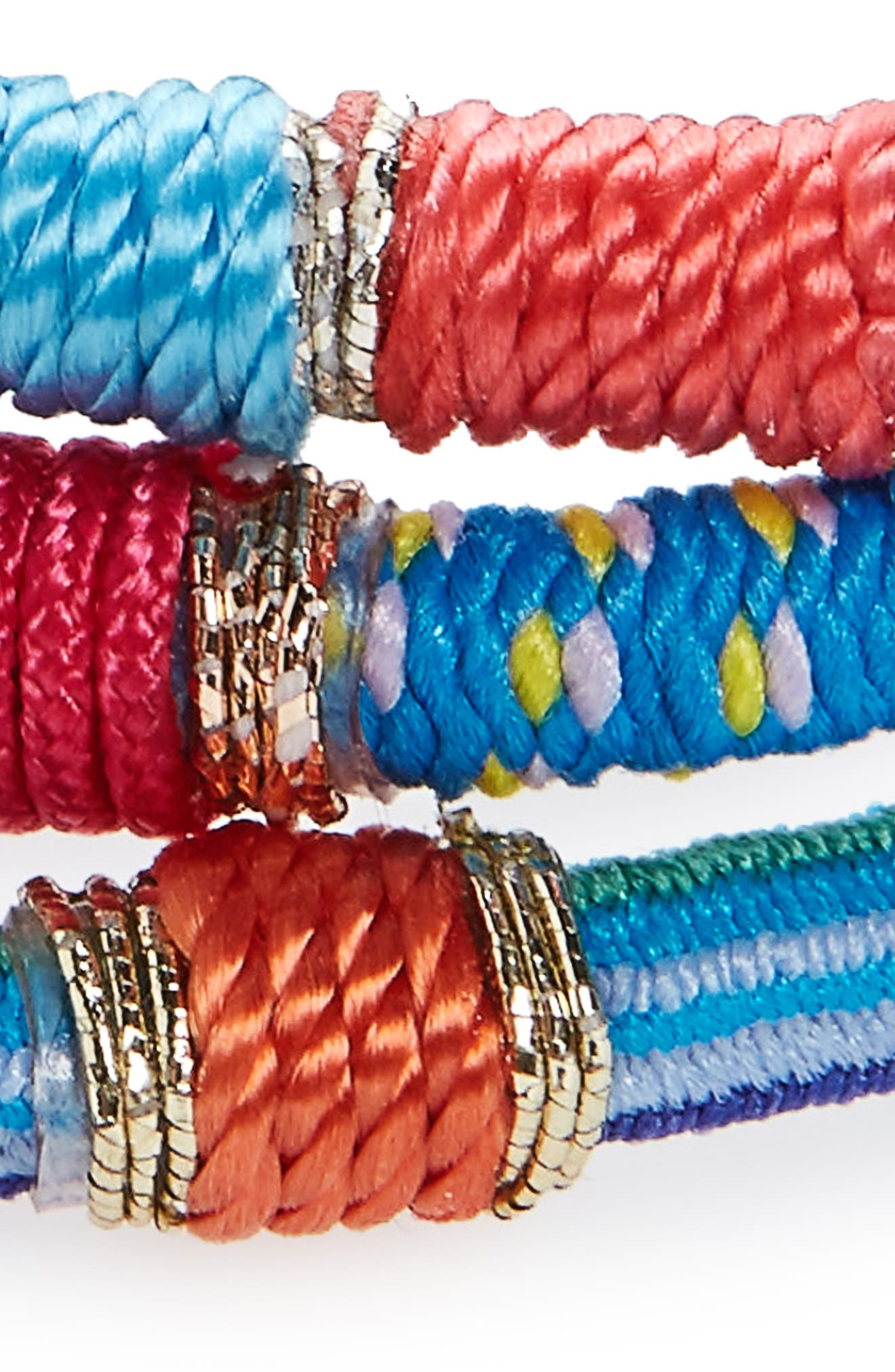 Moroccan Set of 3 Ponytail Holders,                             Alternate thumbnail 3, color,                             460