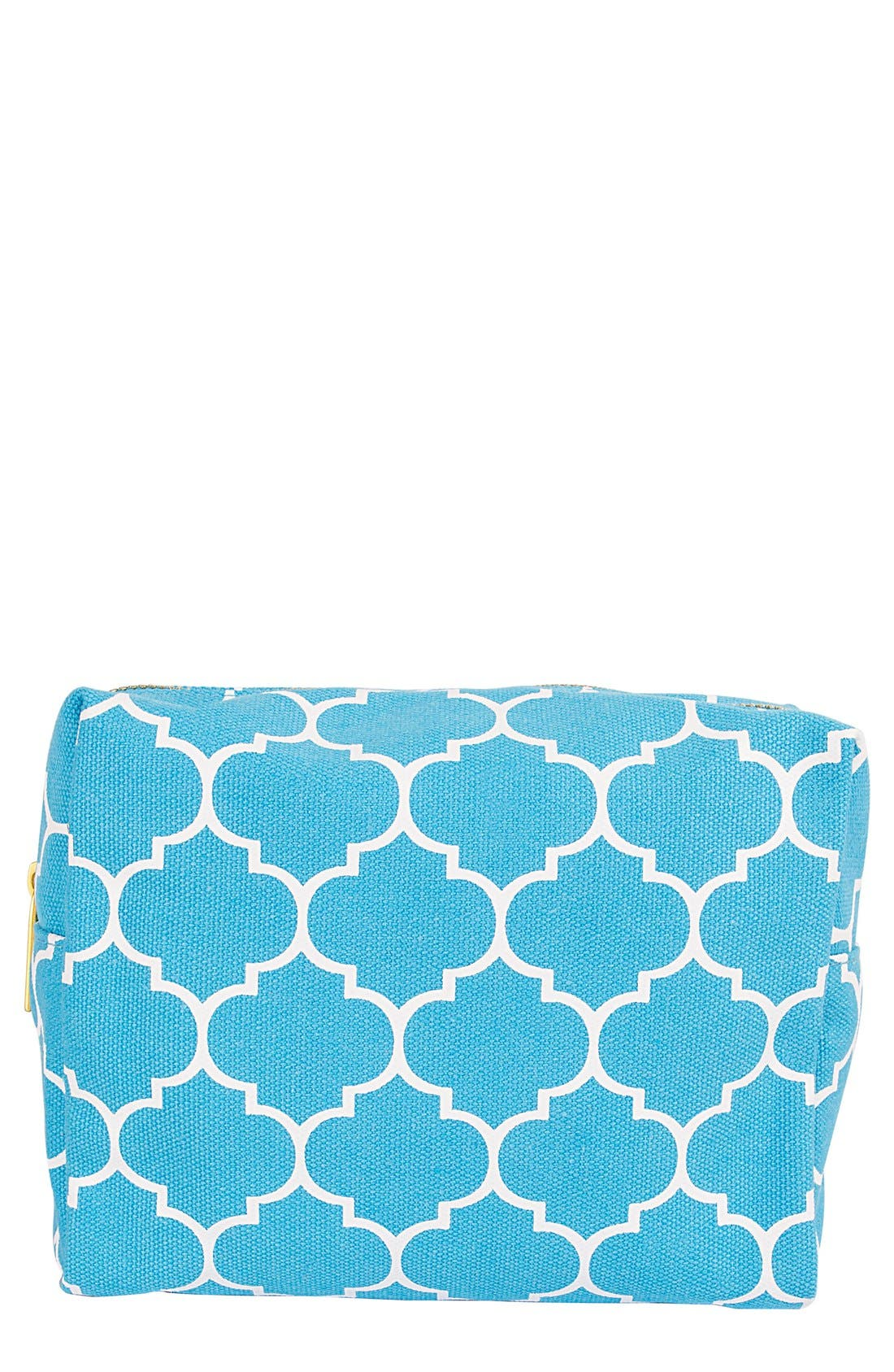 Monogram Cosmetics Bag,                             Main thumbnail 1, color,                             BLUE