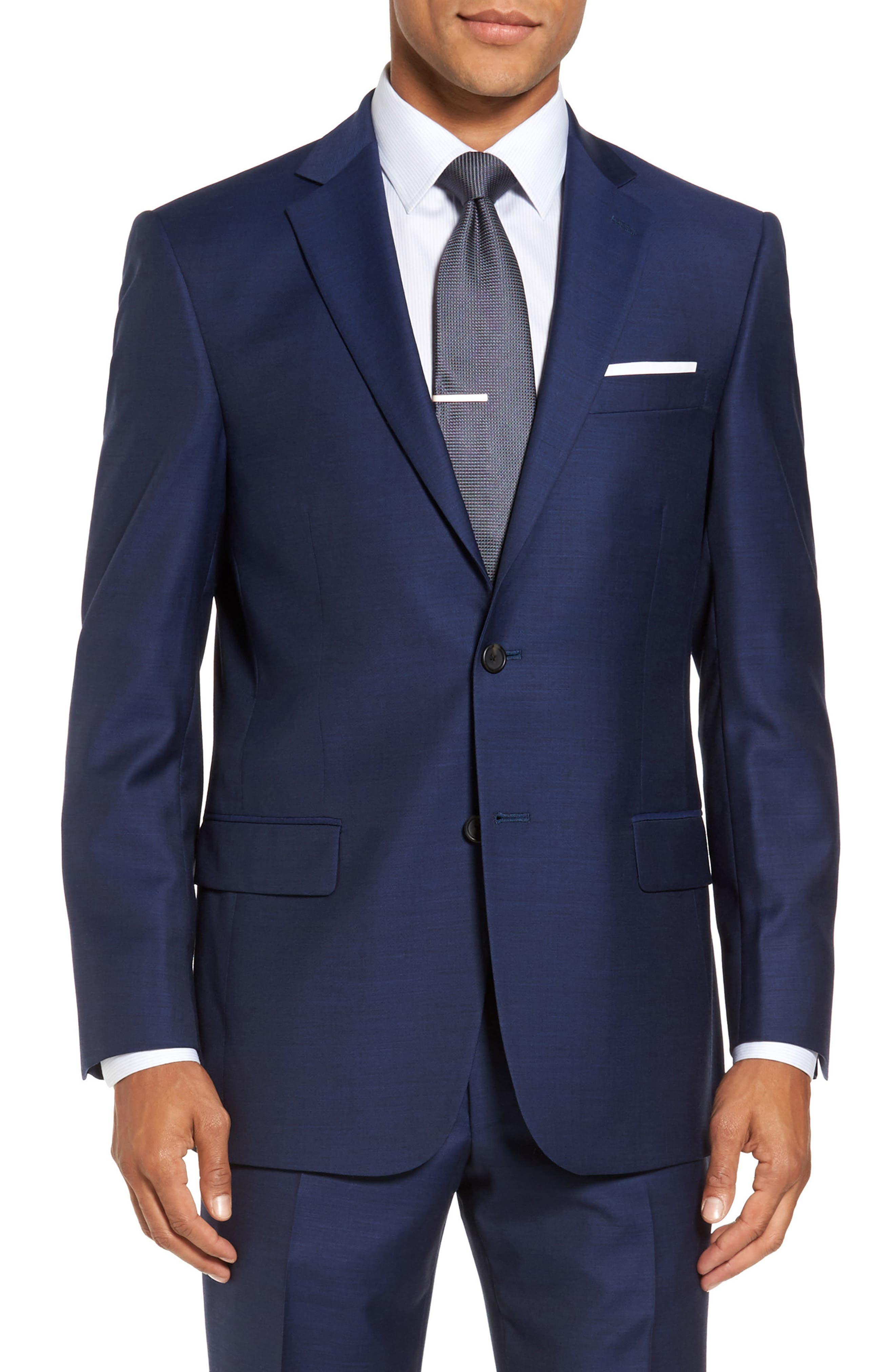 Classic Fit Solid Wool Suit,                             Alternate thumbnail 5, color,                             401
