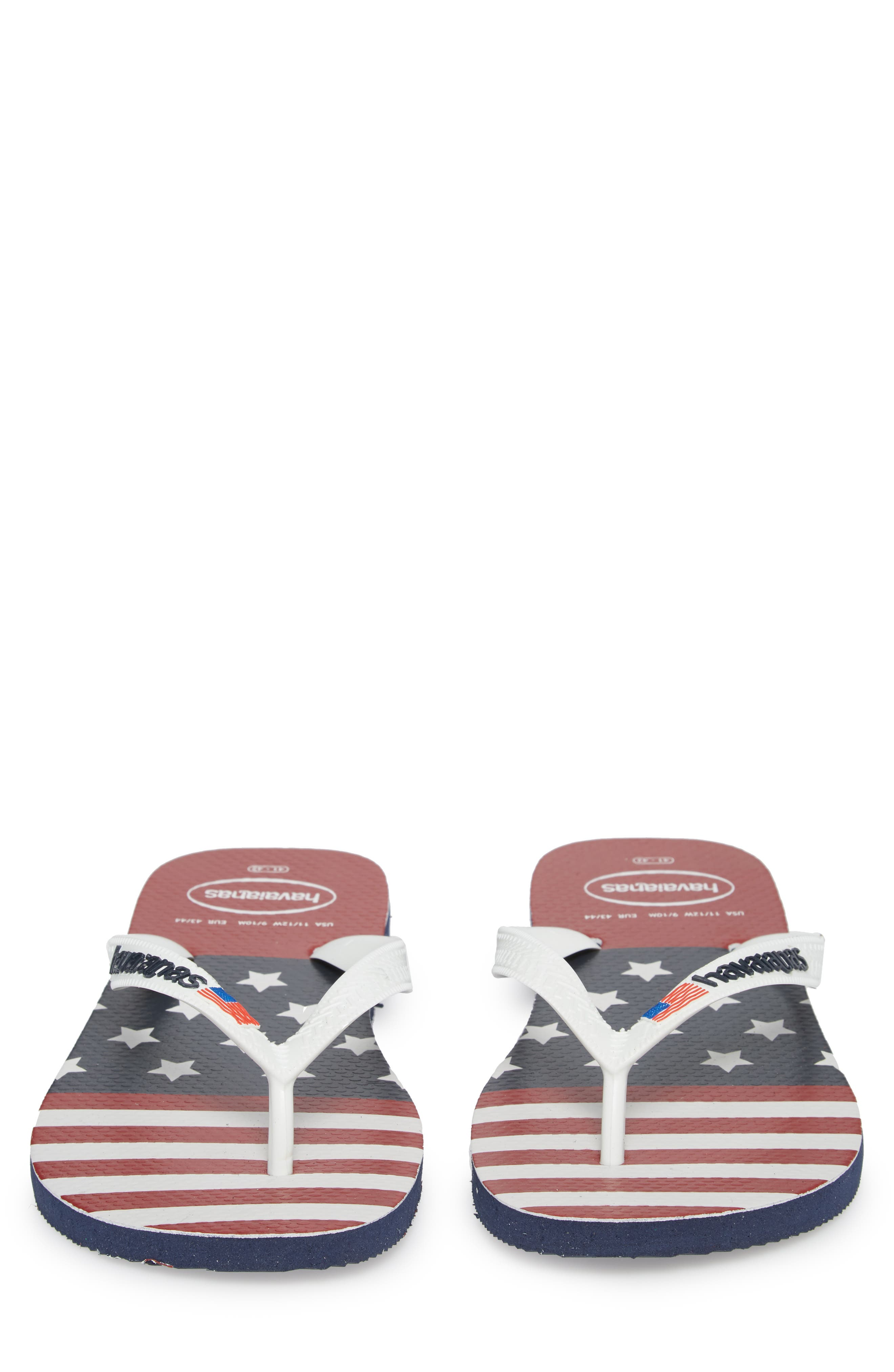 USA Stars & Stripes Flip Flop,                             Alternate thumbnail 5, color,
