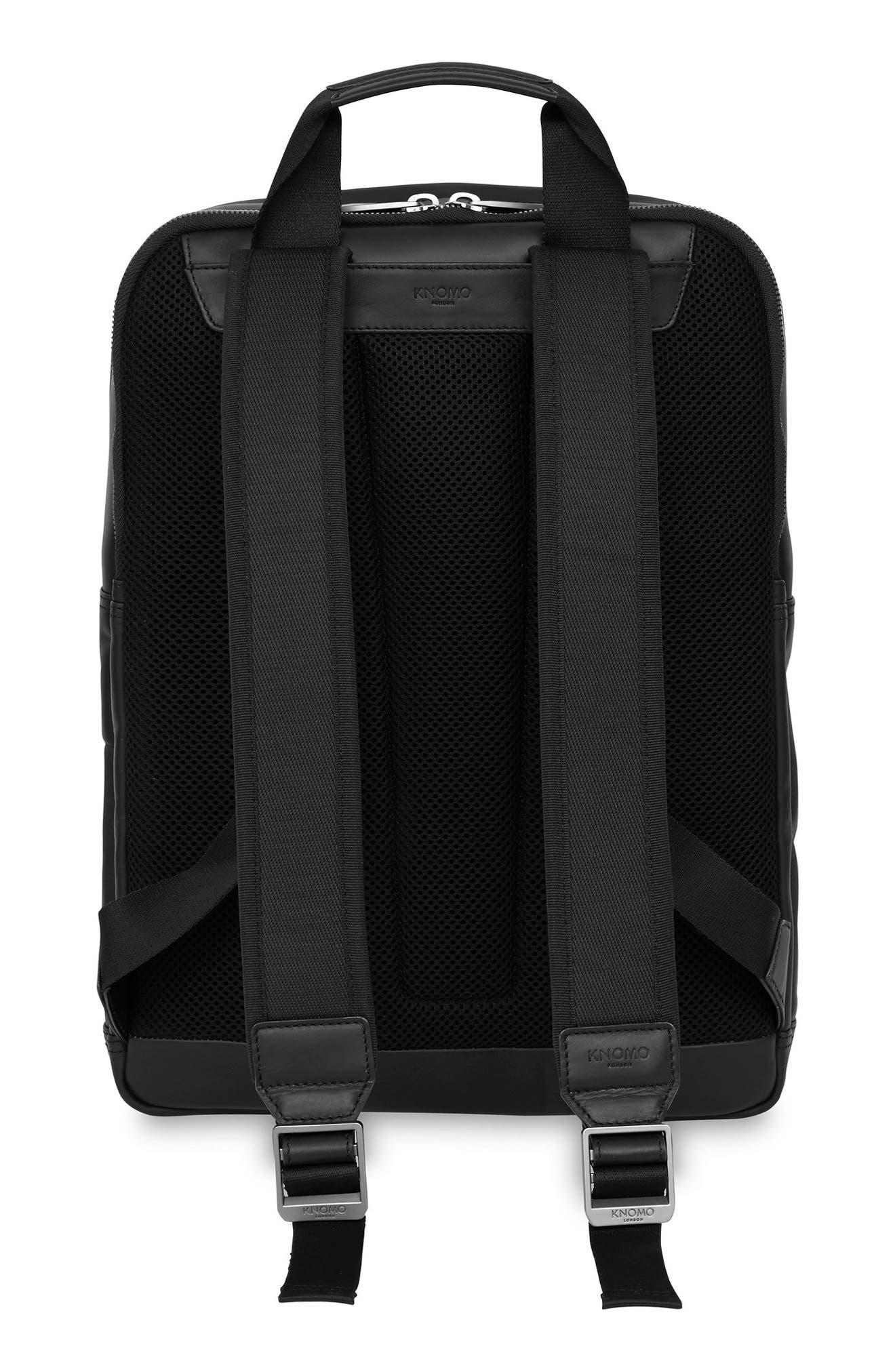 Knomo Barbican Brackley Leather Backpack,                             Alternate thumbnail 2, color,                             BLACK