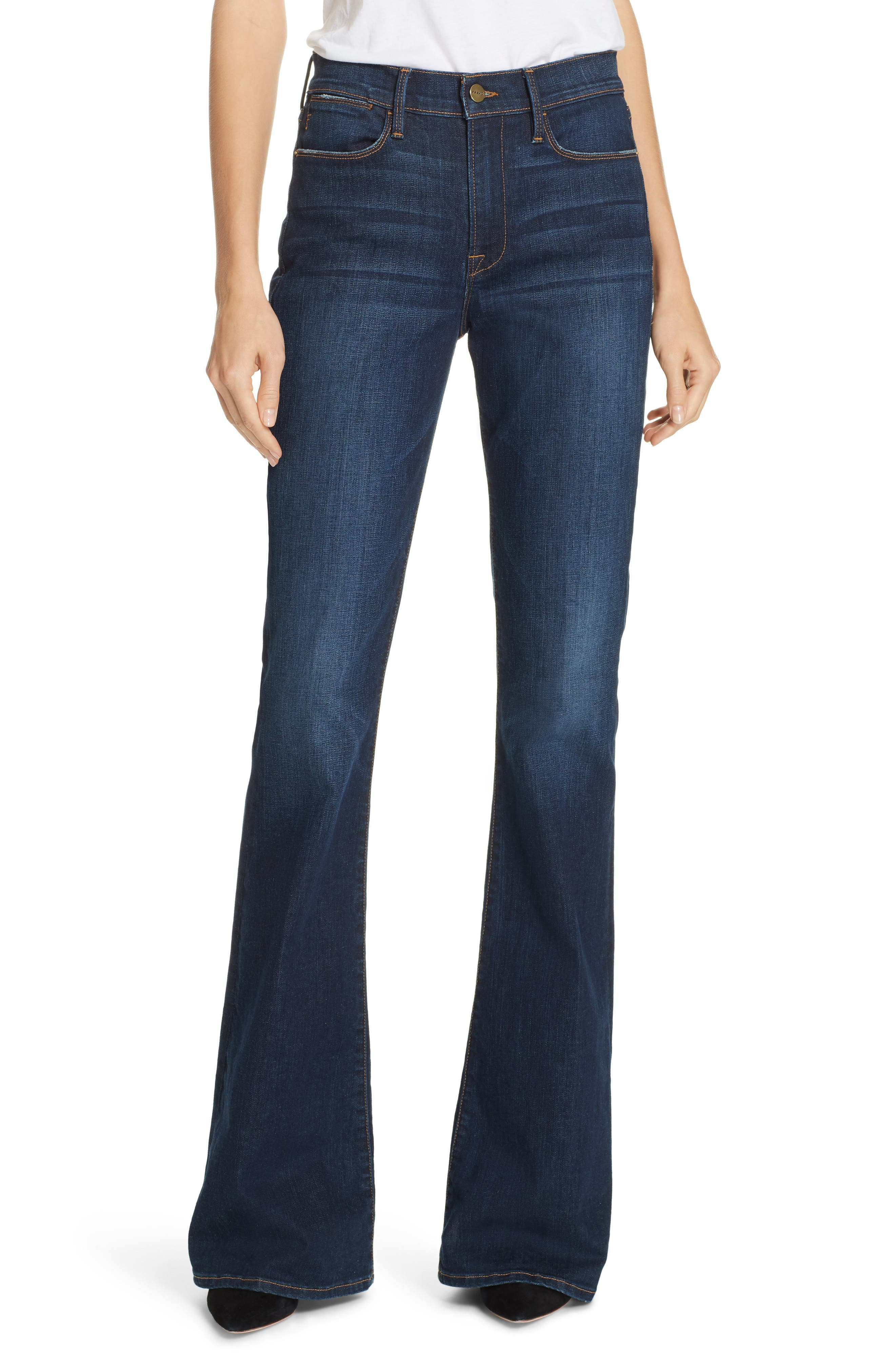 Le High Flare Jeans, Main, color, MERIBEL