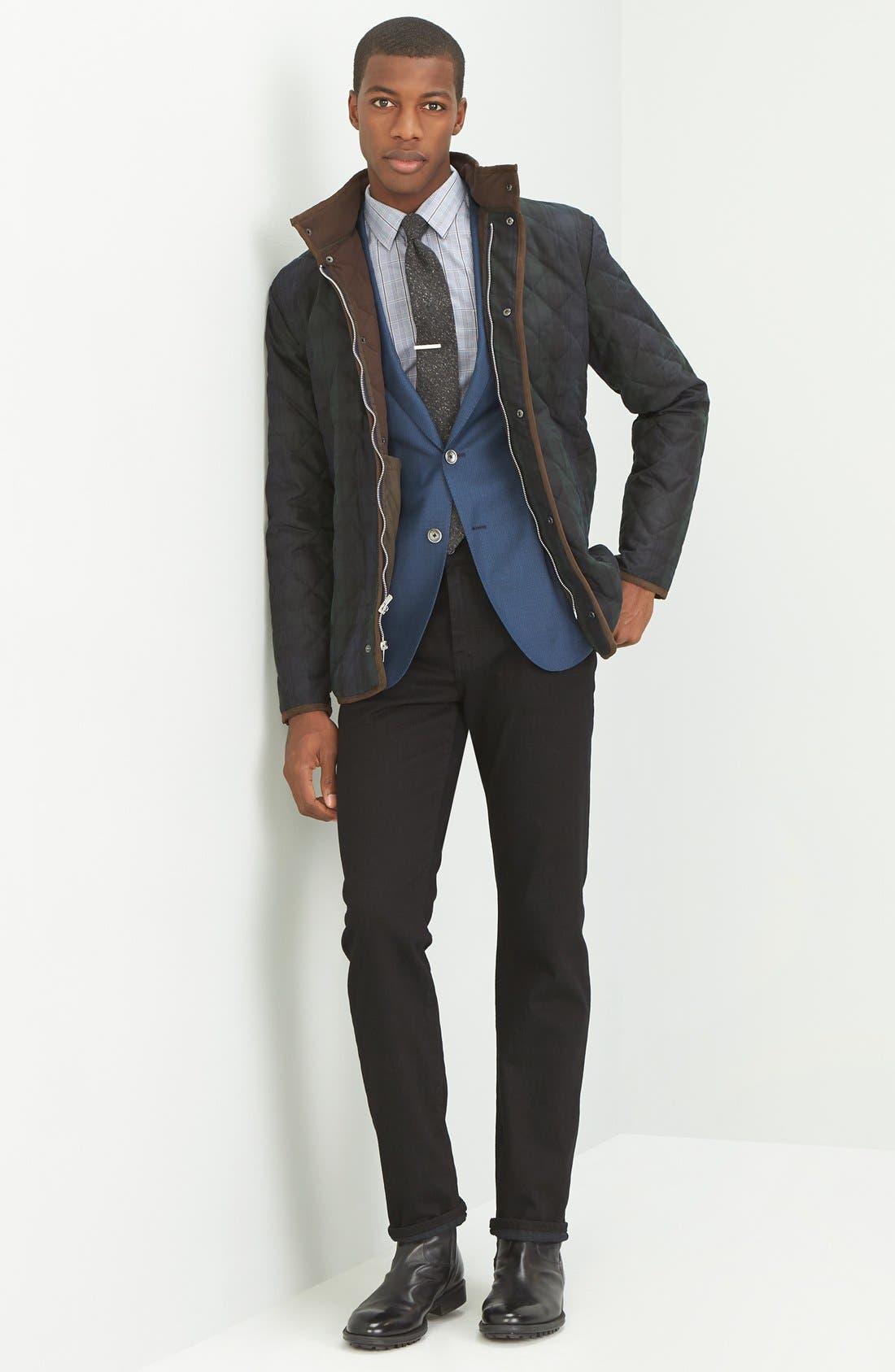 Graduate Slim Straight Leg Jeans,                             Alternate thumbnail 4, color,                             BLACKBIRD