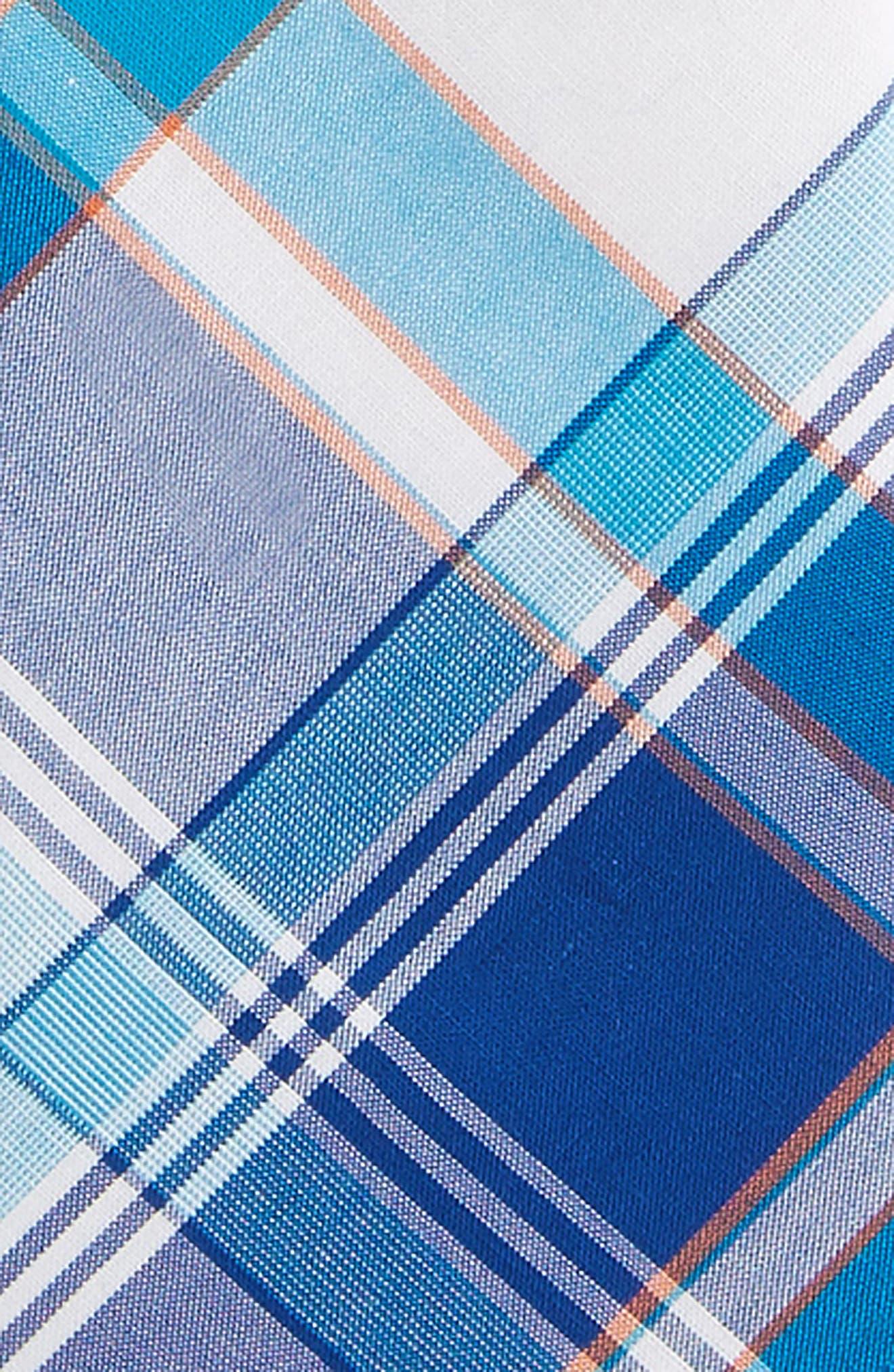Plaid Cotton Zip Tie,                             Alternate thumbnail 4, color,