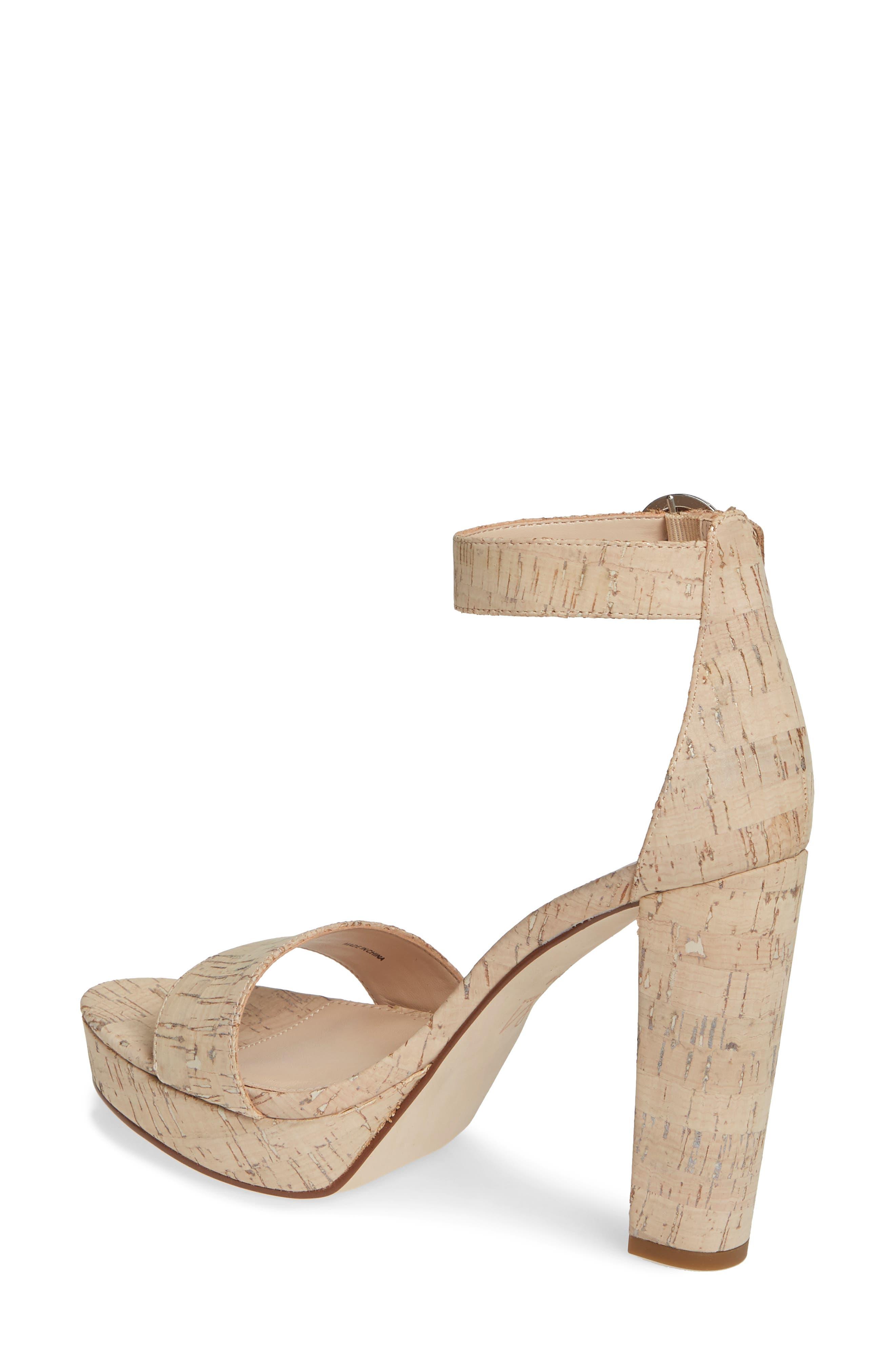 PELLE MODA,                             Palo 2 Platform Sandal,                             Alternate thumbnail 2, color,                             WHITE WASHED CORK