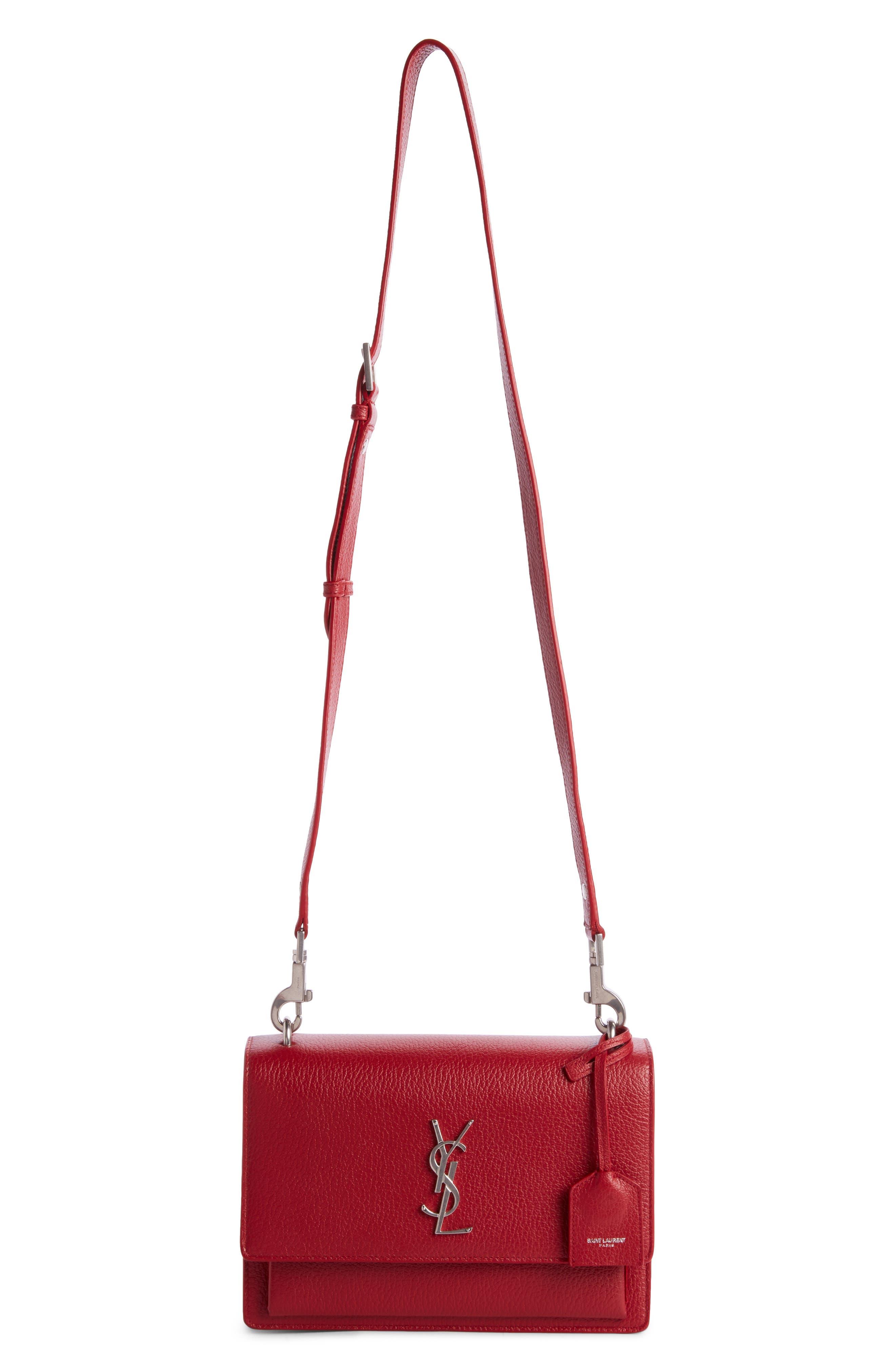 Medium Sunset Grained Leather Shoulder Bag,                         Main,                         color, 600