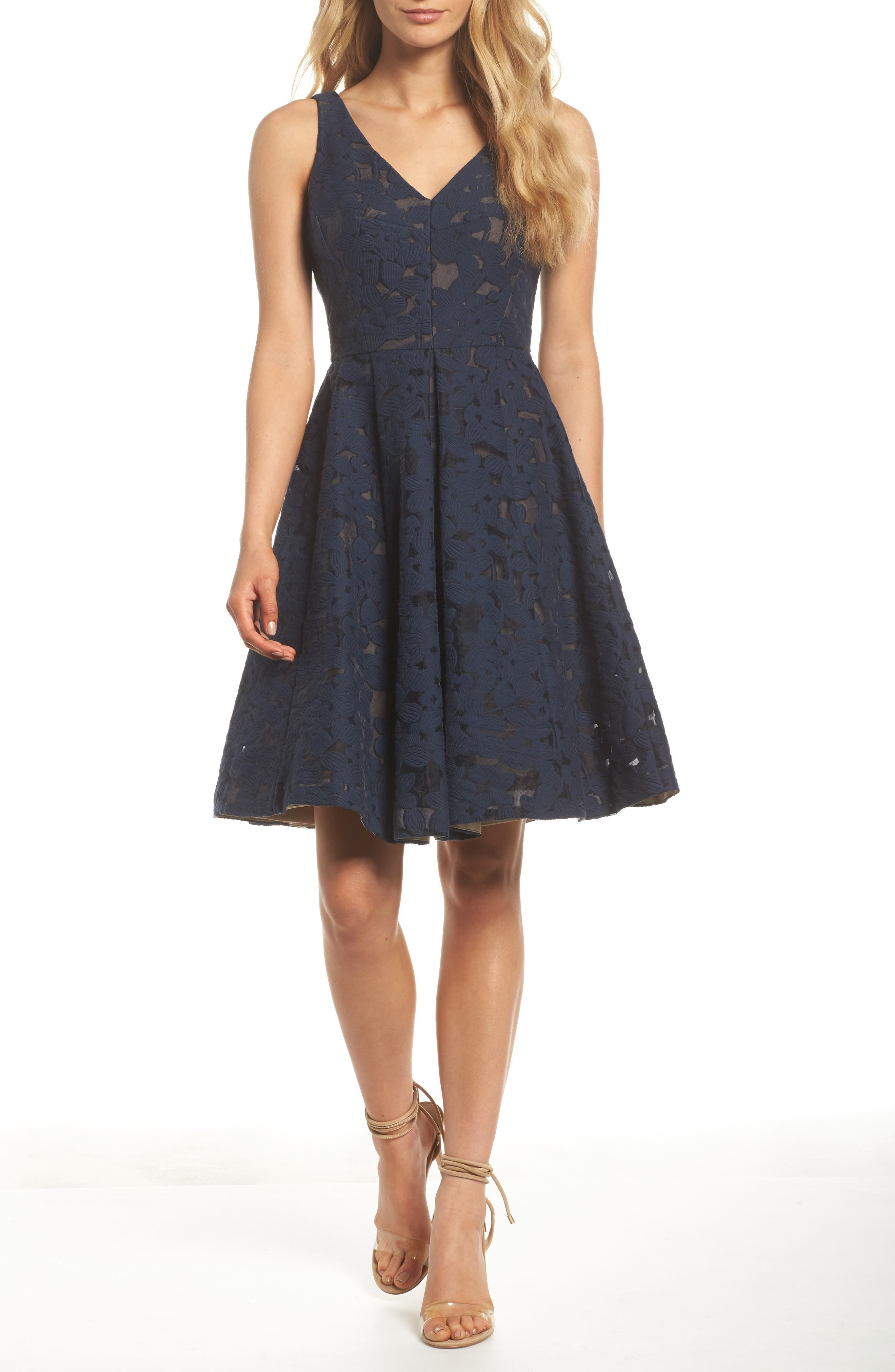 Fit & Flare Dress,                         Main,                         color, 402