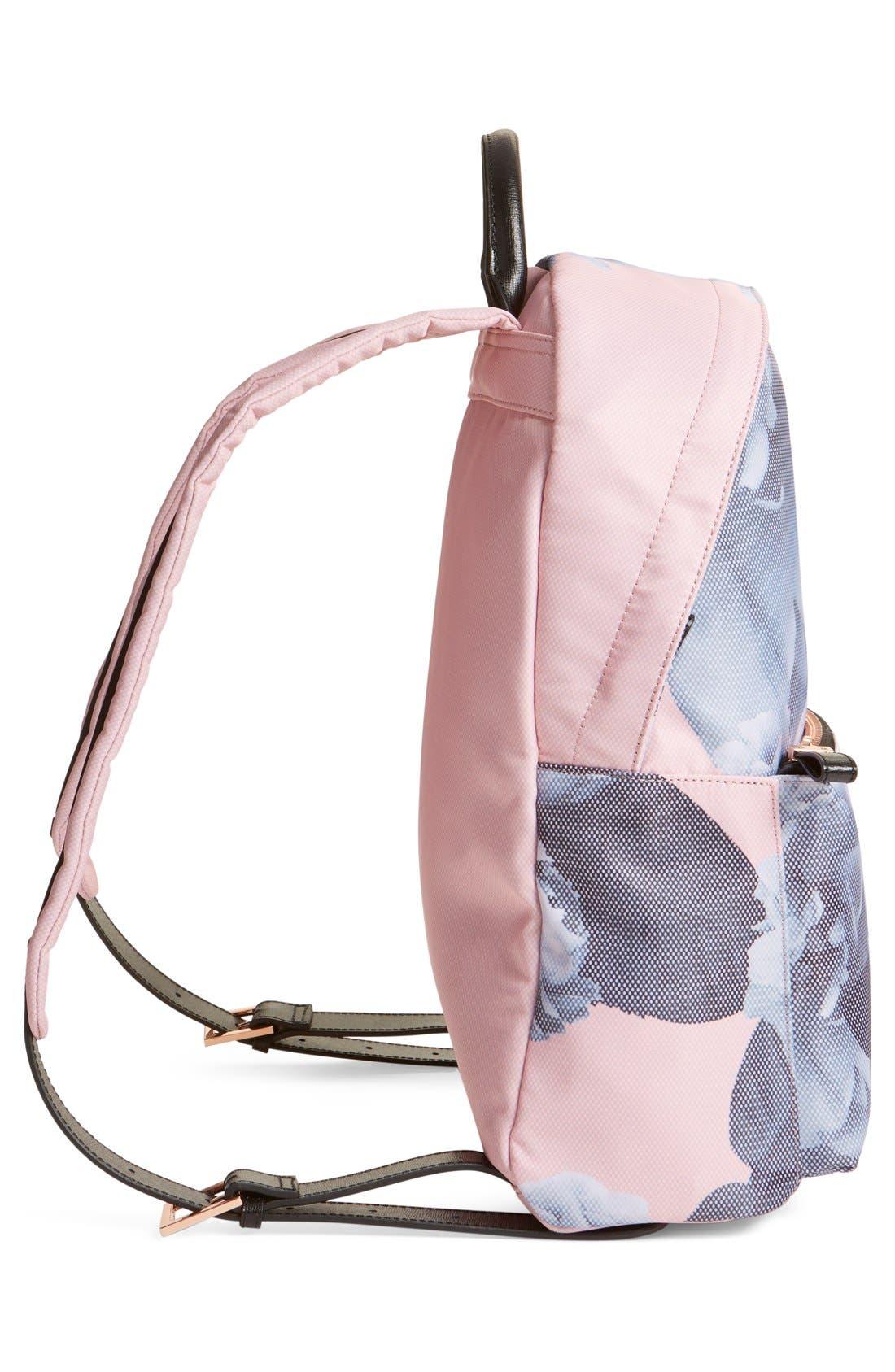 'Mariesa' Floral Print Backpack,                             Alternate thumbnail 4, color,                             672
