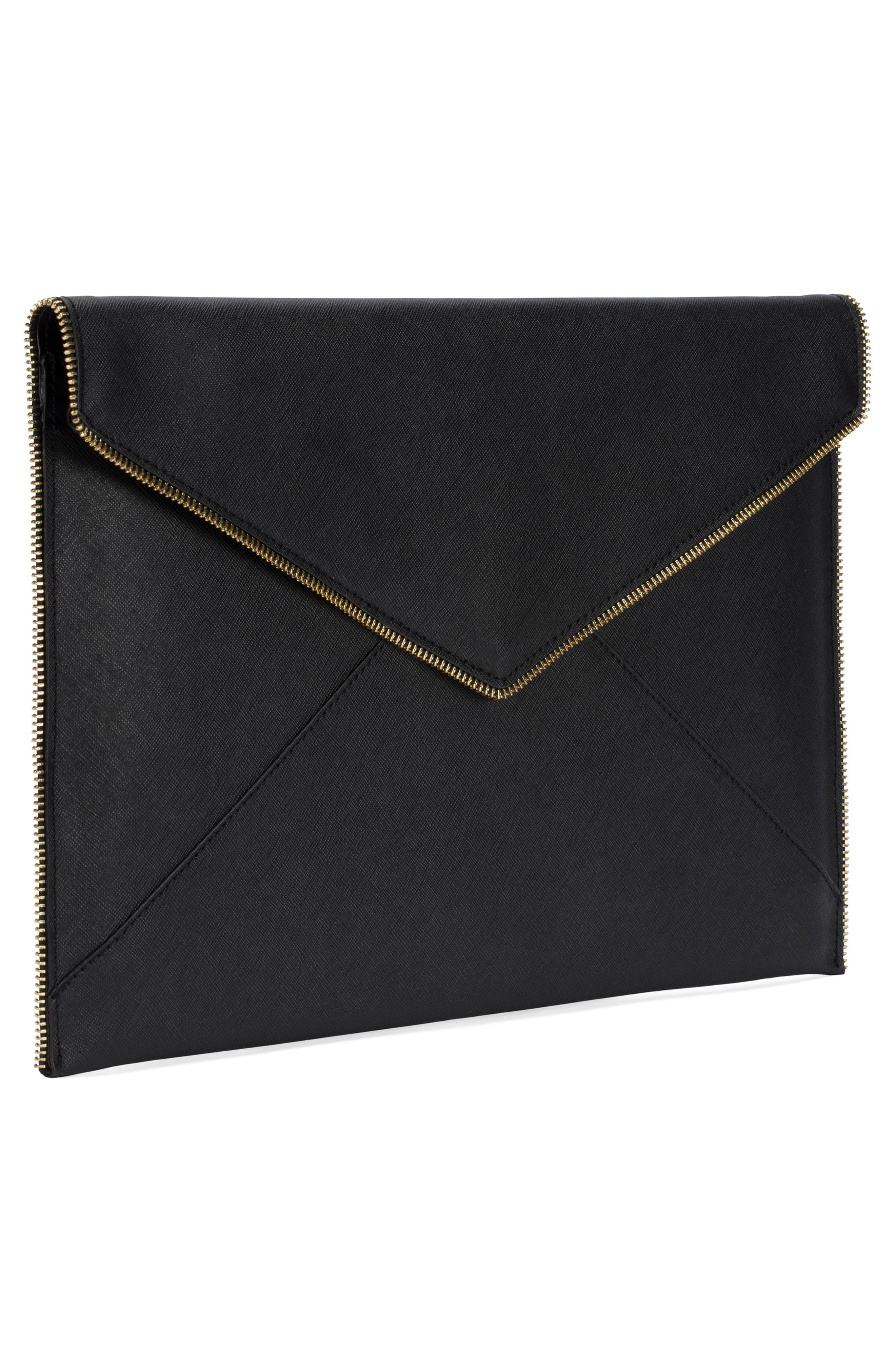 Leo Leather 13-Inch Laptop Case,                             Alternate thumbnail 3, color,                             001