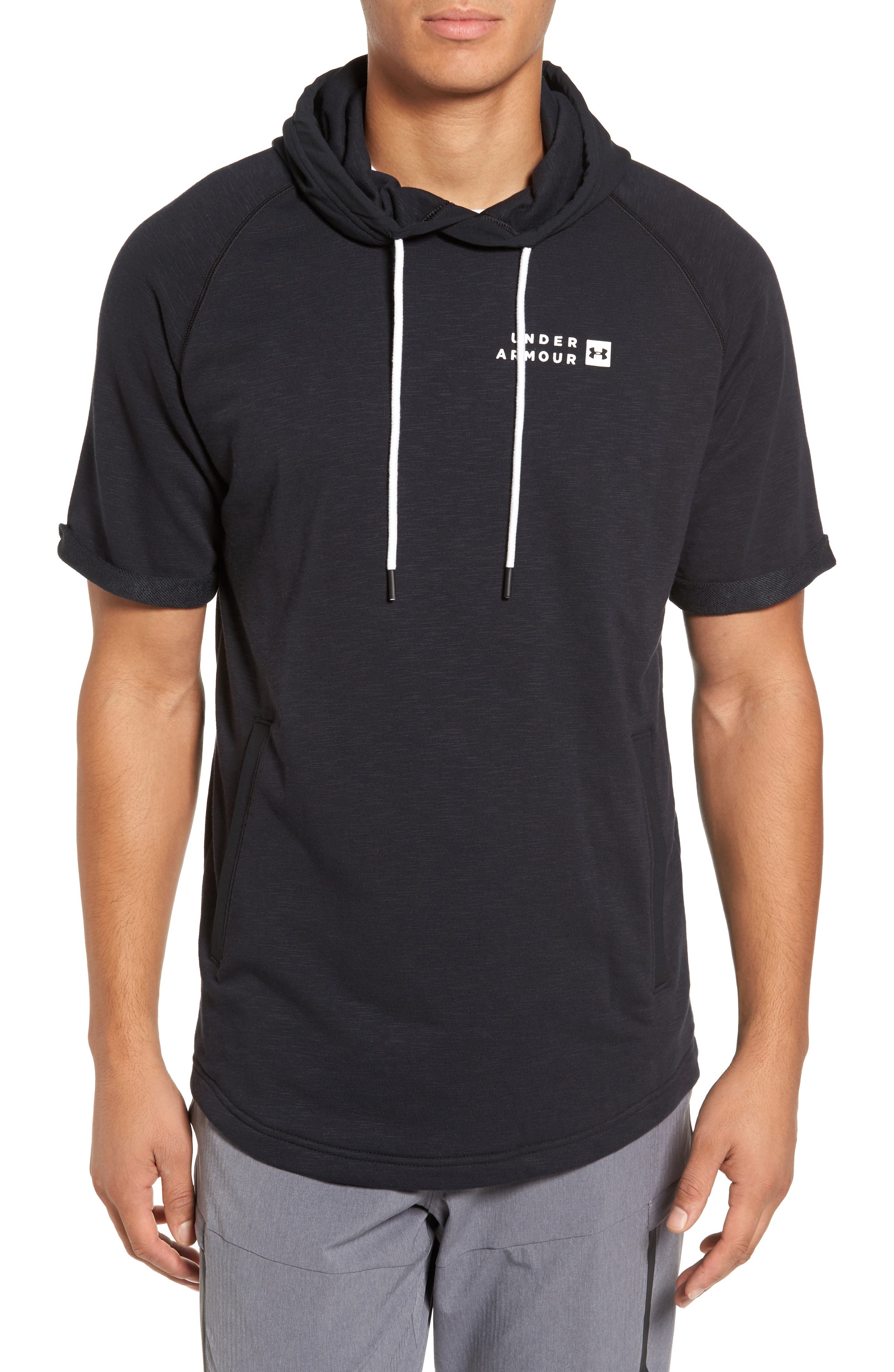 Sportstyle Short Sleeve Hoodie,                         Main,                         color, 001