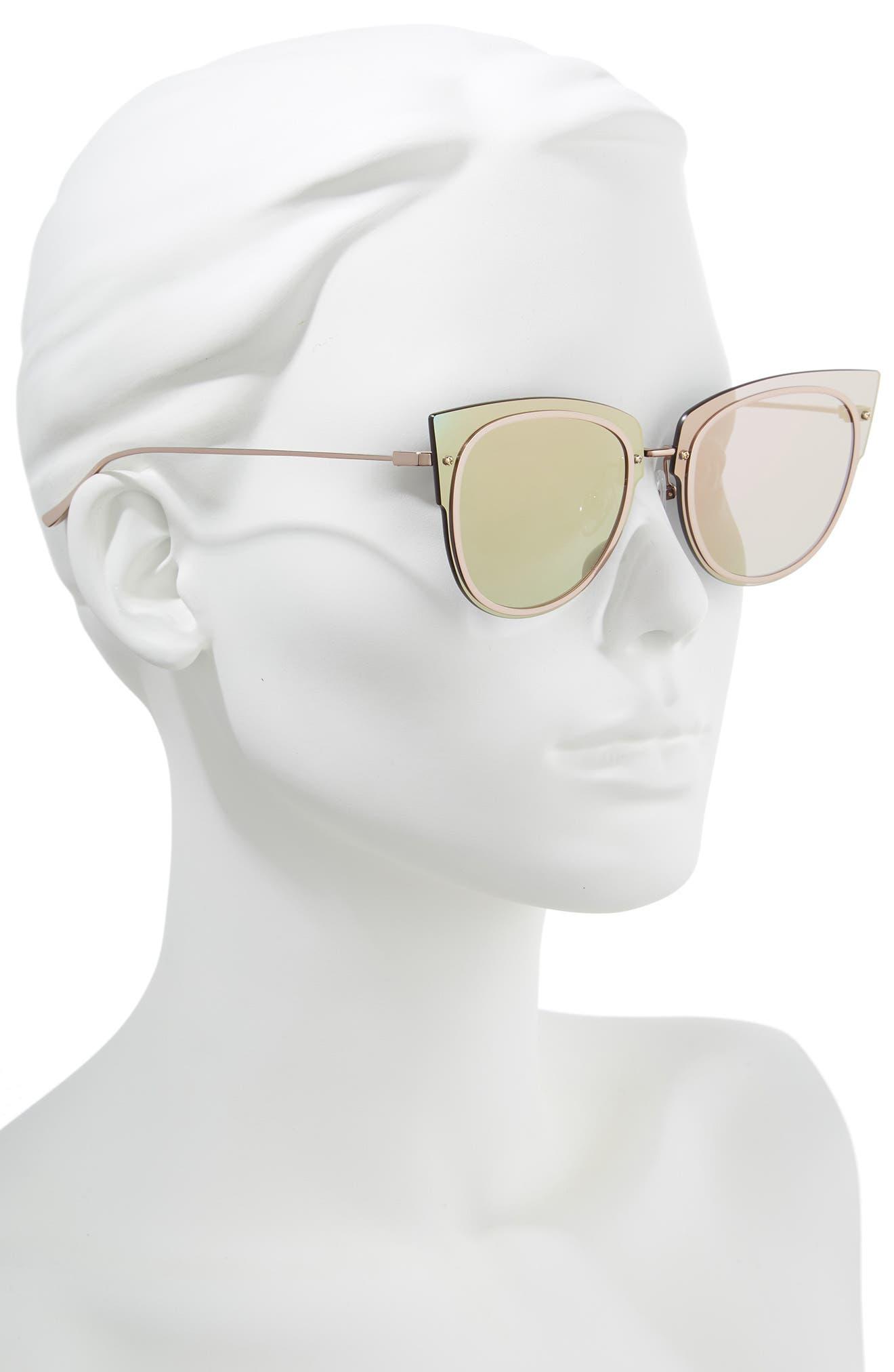 x Demi Lovato DEMI 50mm Rimless Cat Eye Sunglasses,                             Alternate thumbnail 2, color,                             020