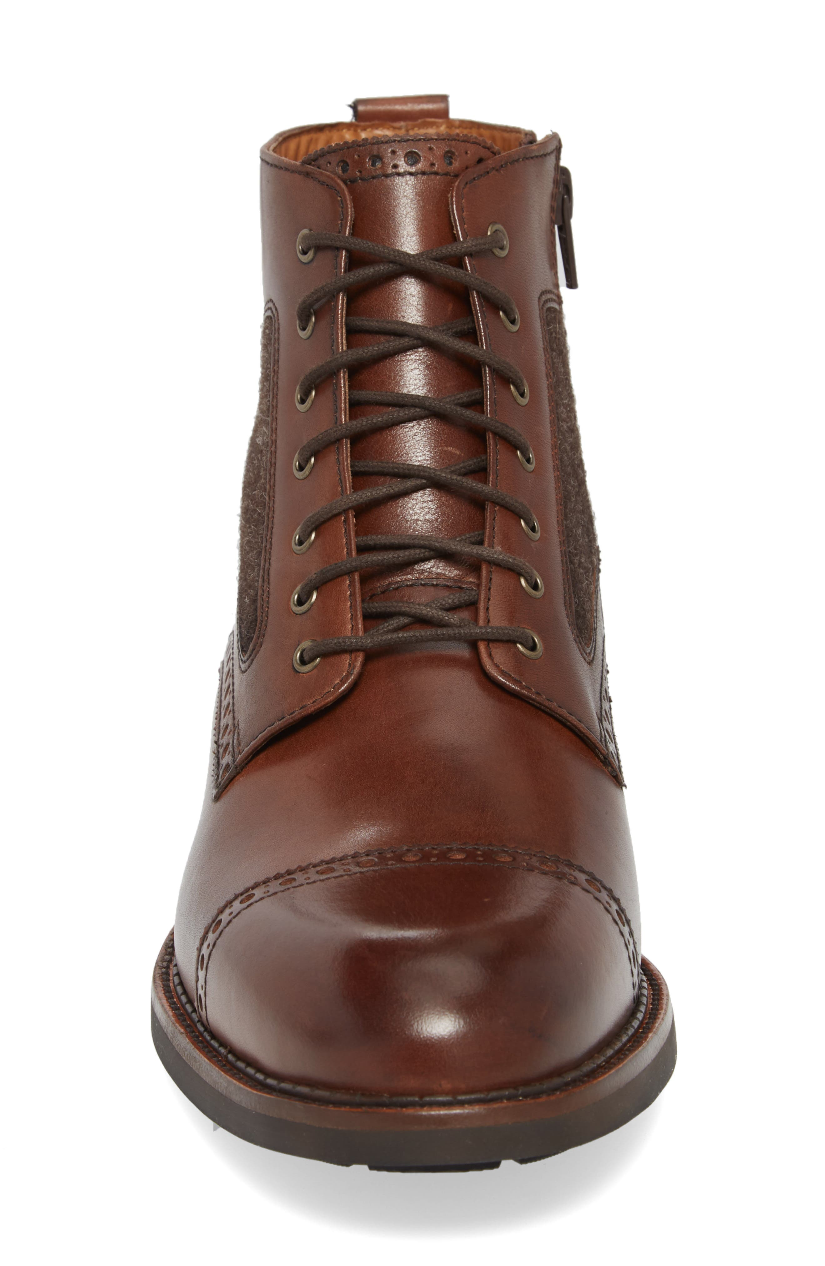Fullerton Zip Boot,                             Alternate thumbnail 4, color,                             MAHOGANY