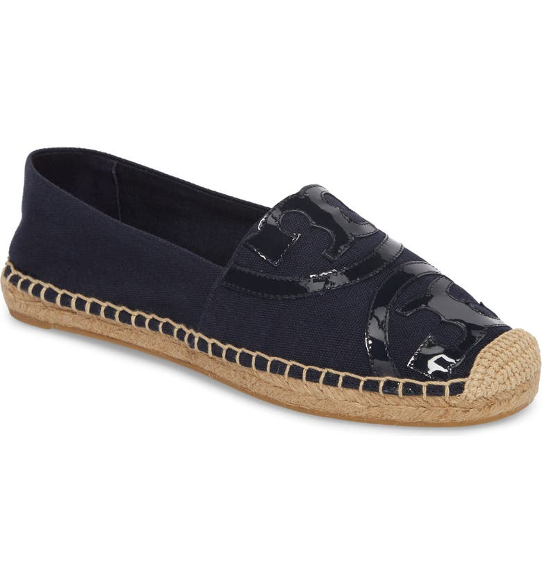 Tory Burch Poppy Logo Espadrille Flat (Women) Best Deals