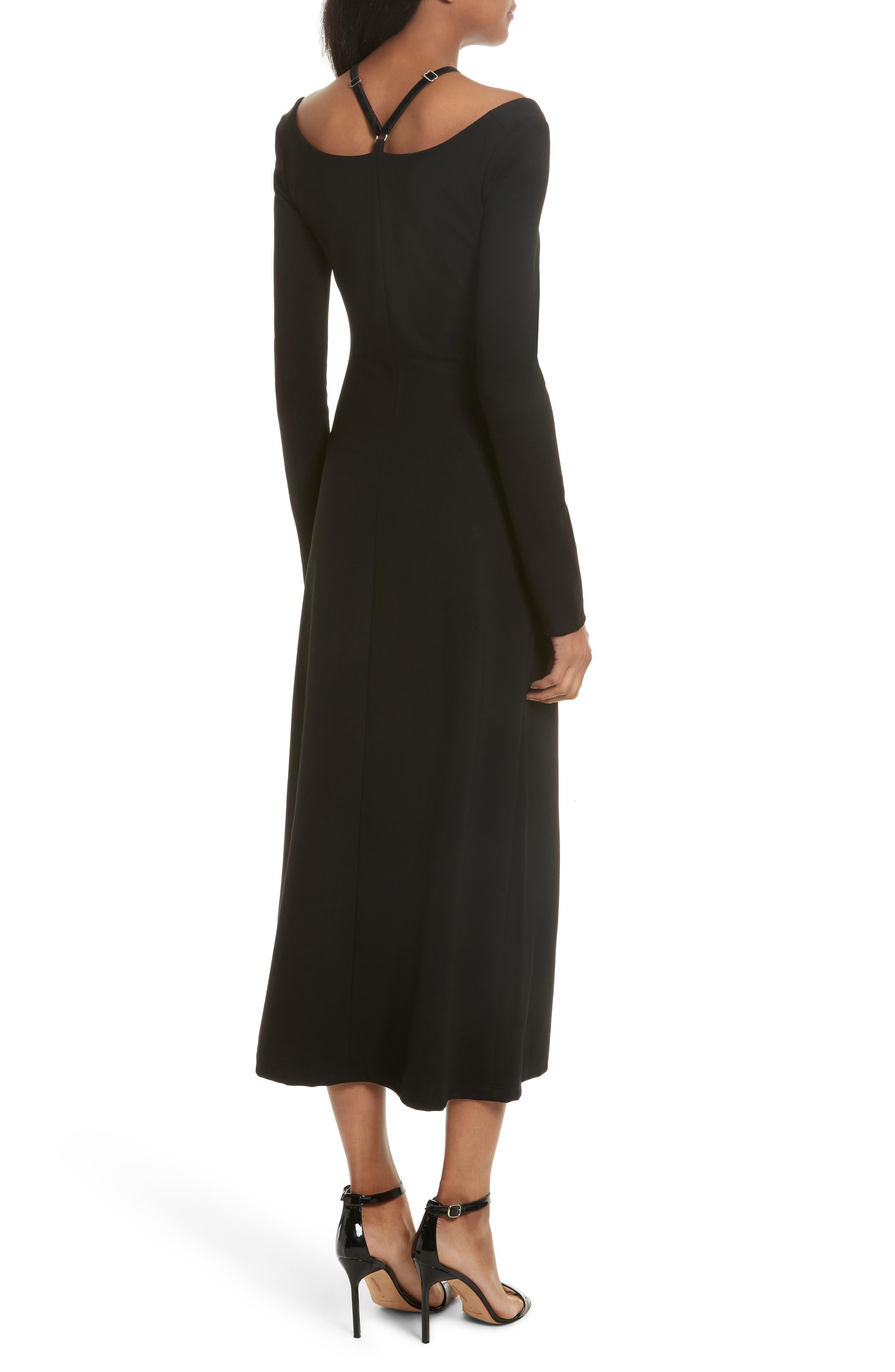 Jessa Cutout Midi Dress,                             Alternate thumbnail 2, color,                             001