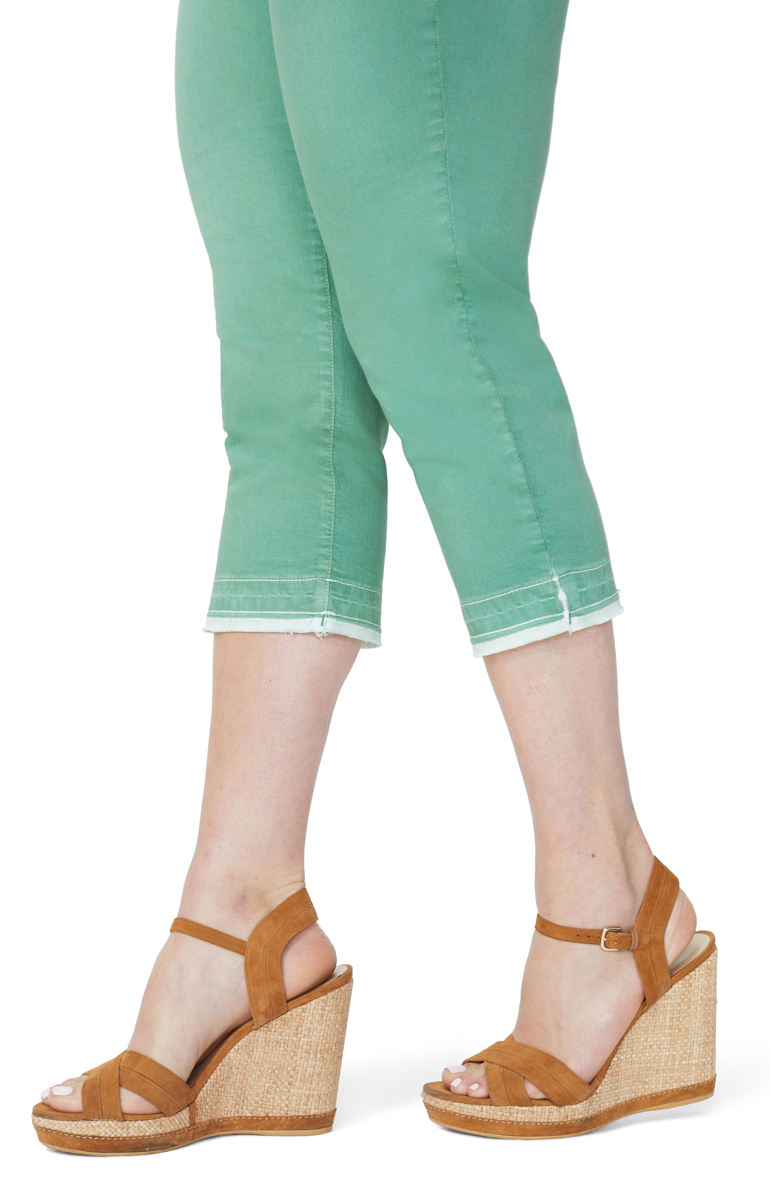 NYDJ,                             Release Hem Skinny Jeans,                             Alternate thumbnail 2, color,                             CACTUS