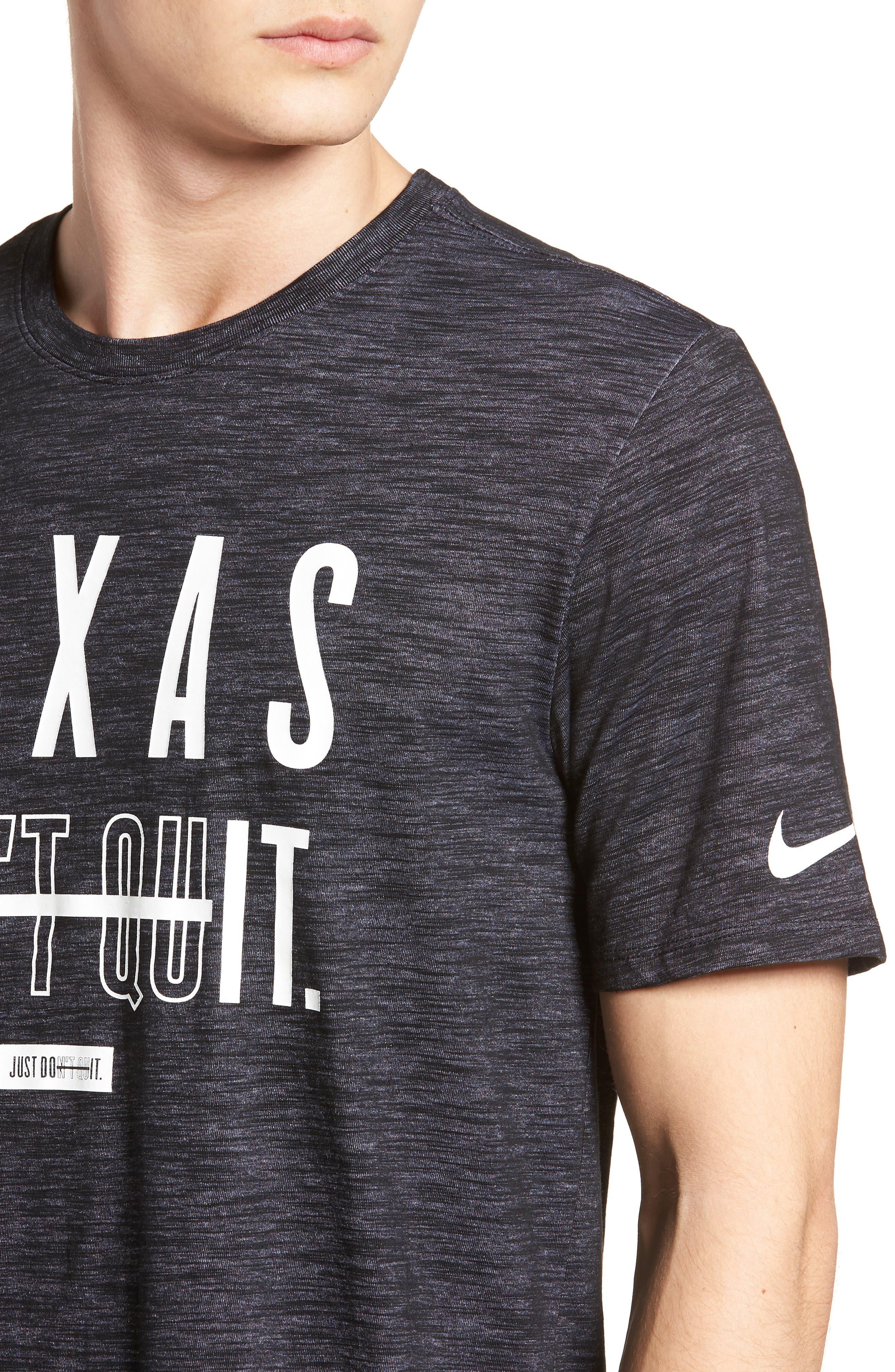 Dry Texas Don't Quit T-Shirt,                             Alternate thumbnail 4, color,                             010