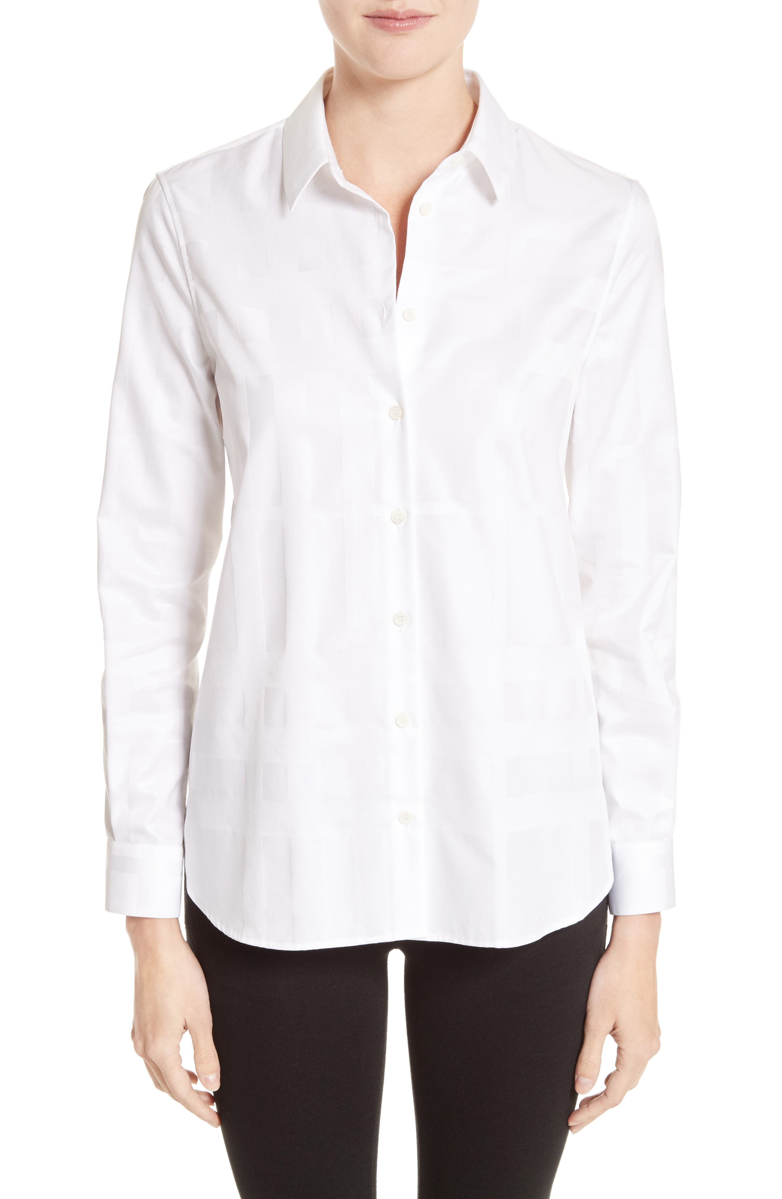 Aster Check Cotton Shirt,                             Main thumbnail 1, color,                             100