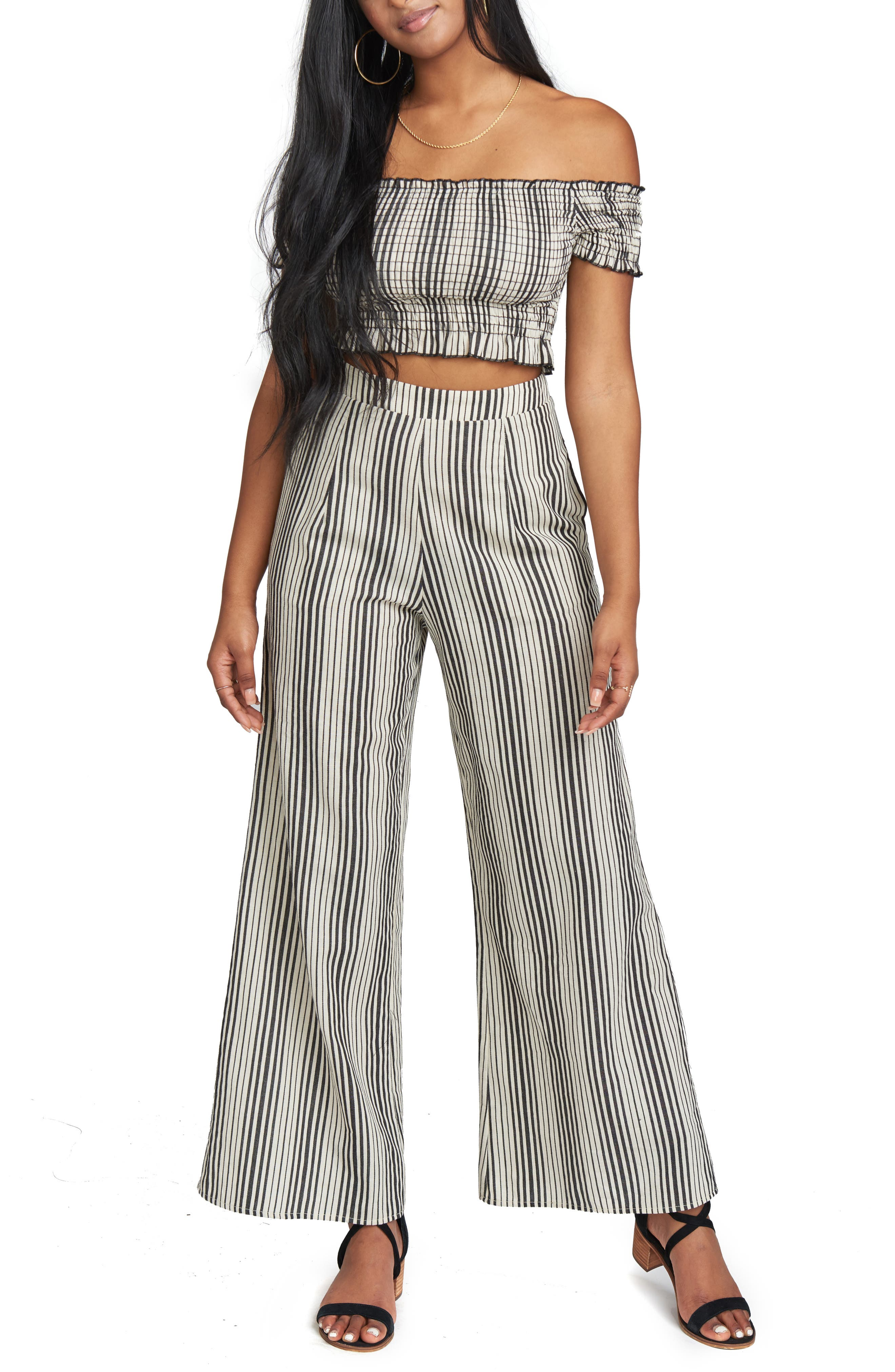 Stripe Strapless Crop Top,                             Main thumbnail 1, color,                             900