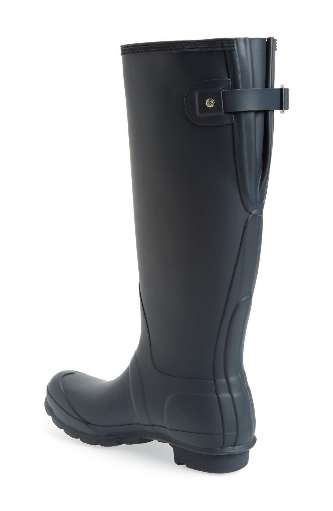 Adjustable Calf Rain Boot,                             Alternate thumbnail 2, color,                             NAVY MATTE