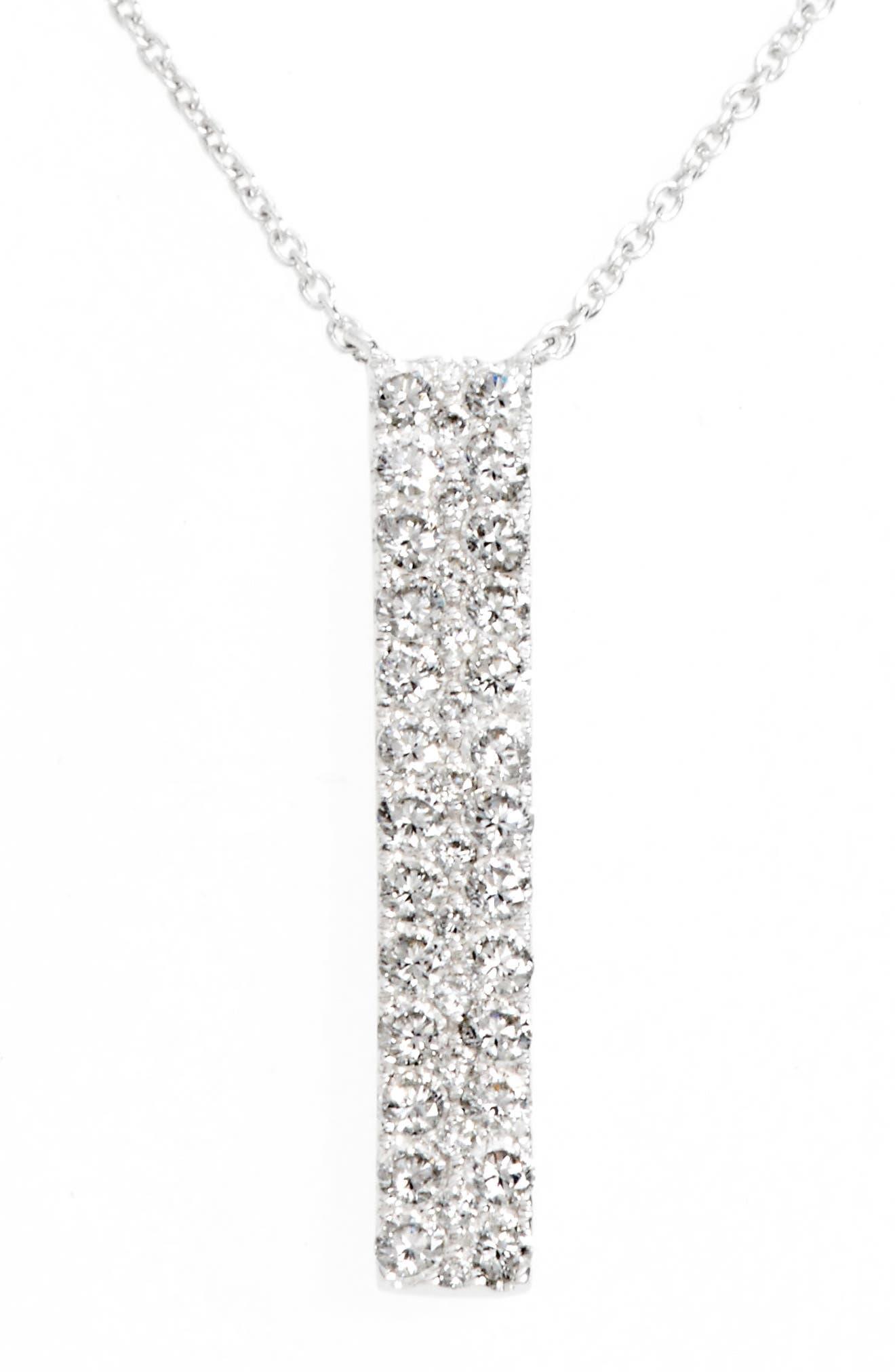 Kiera Diamond Bar Pendant Necklace,                             Alternate thumbnail 2, color,                             711