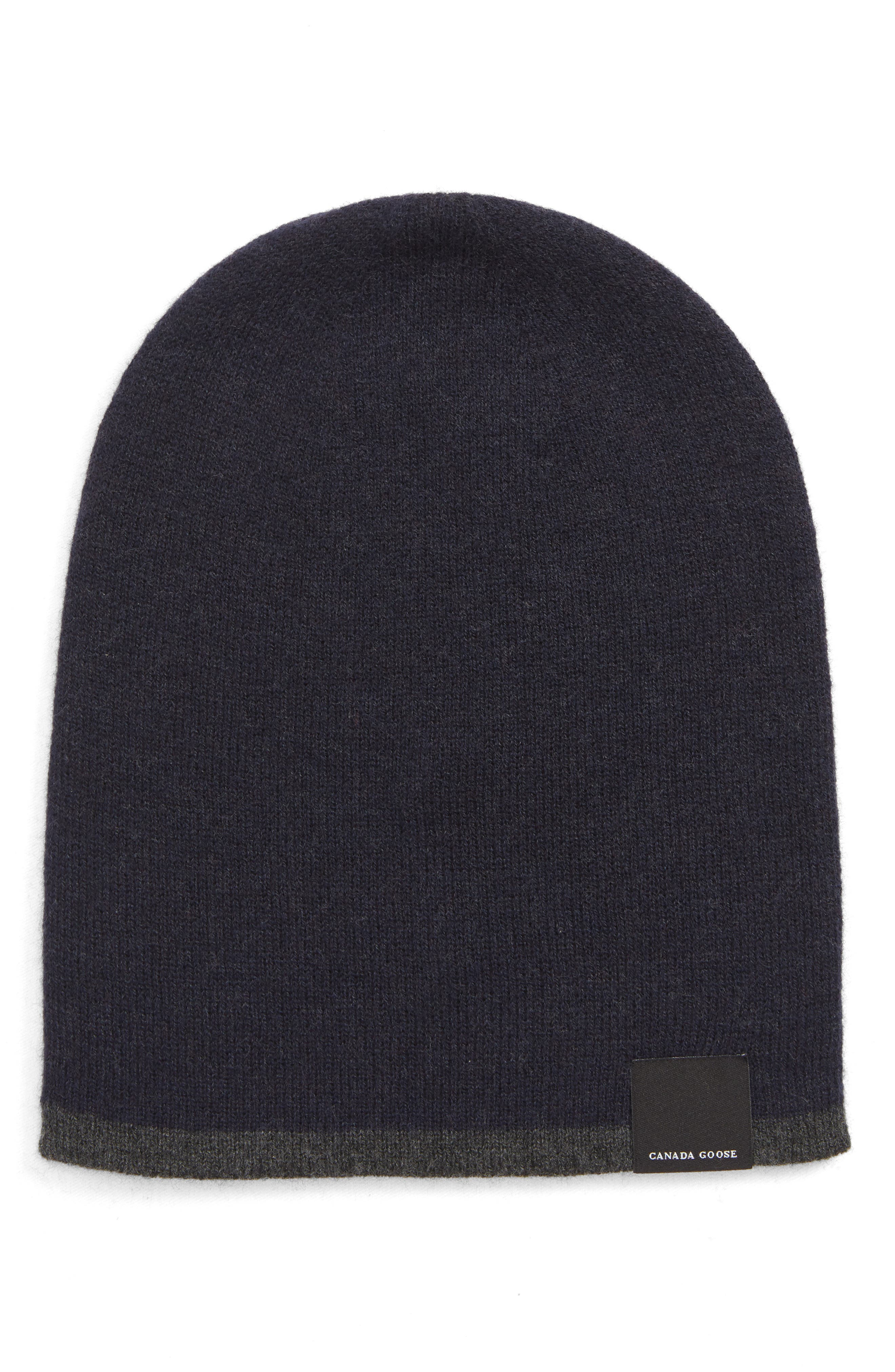 Men'S Reversible Wool Toque Beanie Hat in Navy