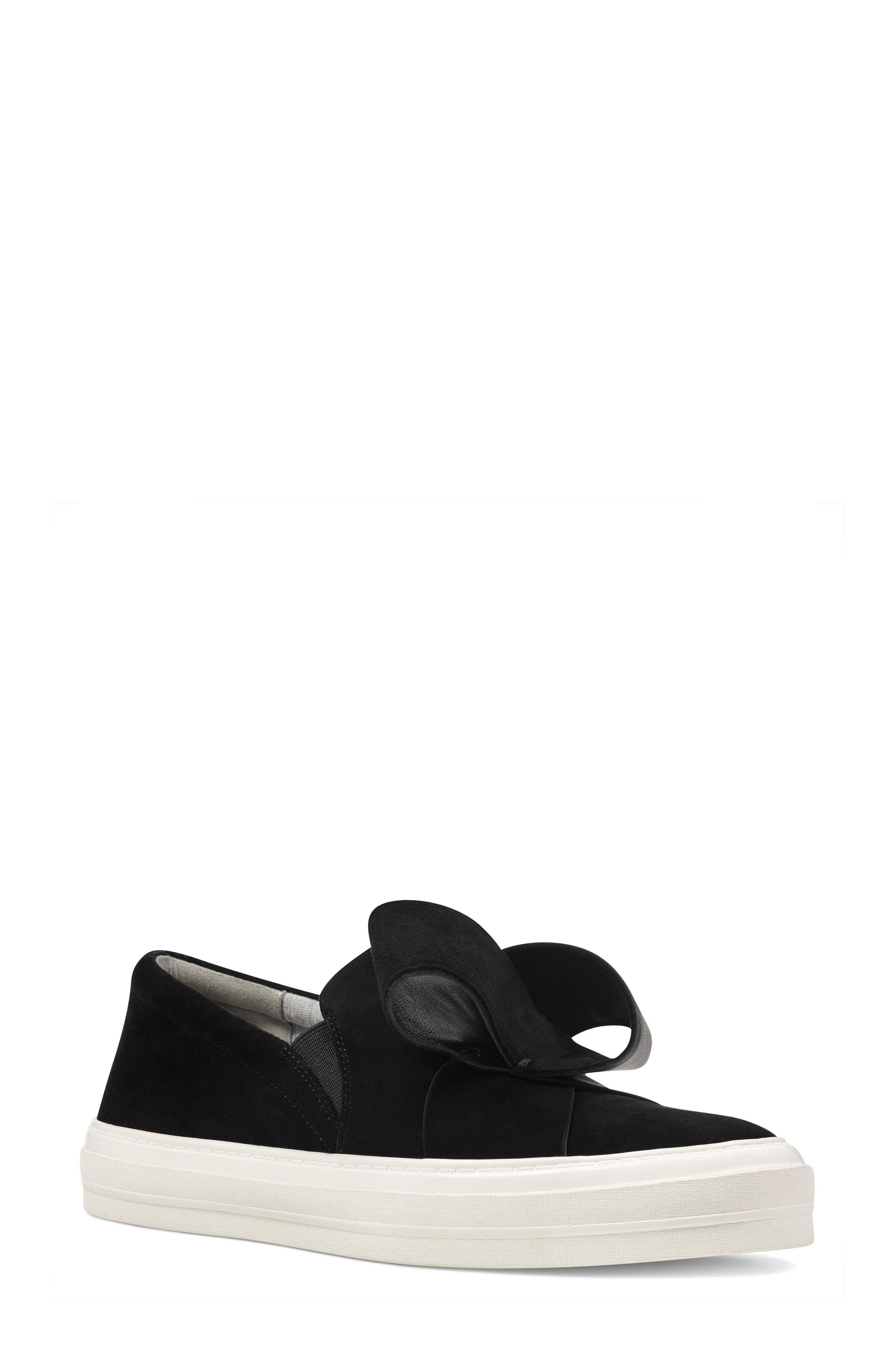 Odienella Slip-On Sneaker,                             Main thumbnail 1, color,                             BLACK MULTI SUEDE