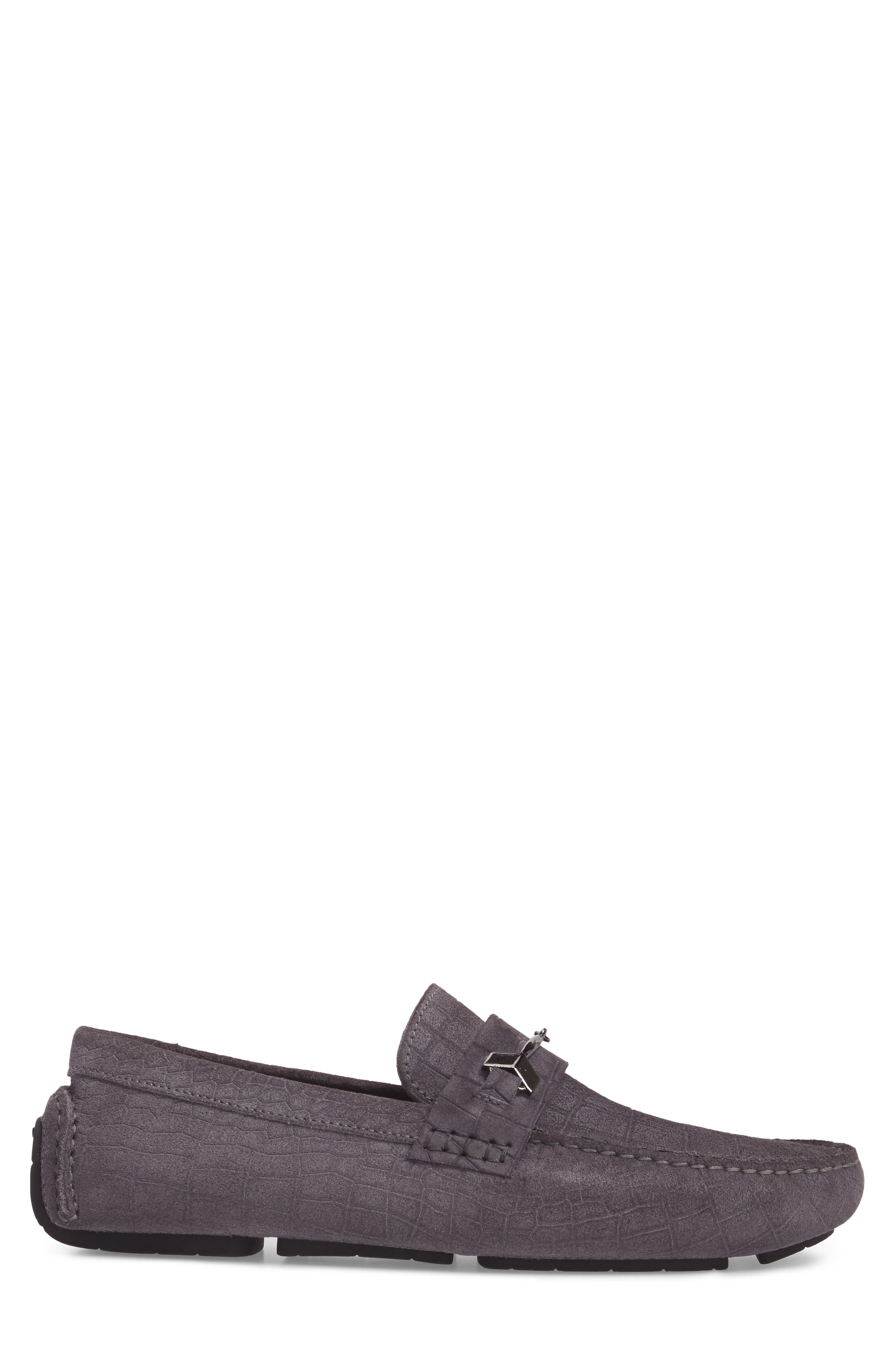 Brewer Croc Textured Driving Loafer,                             Alternate thumbnail 6, color,