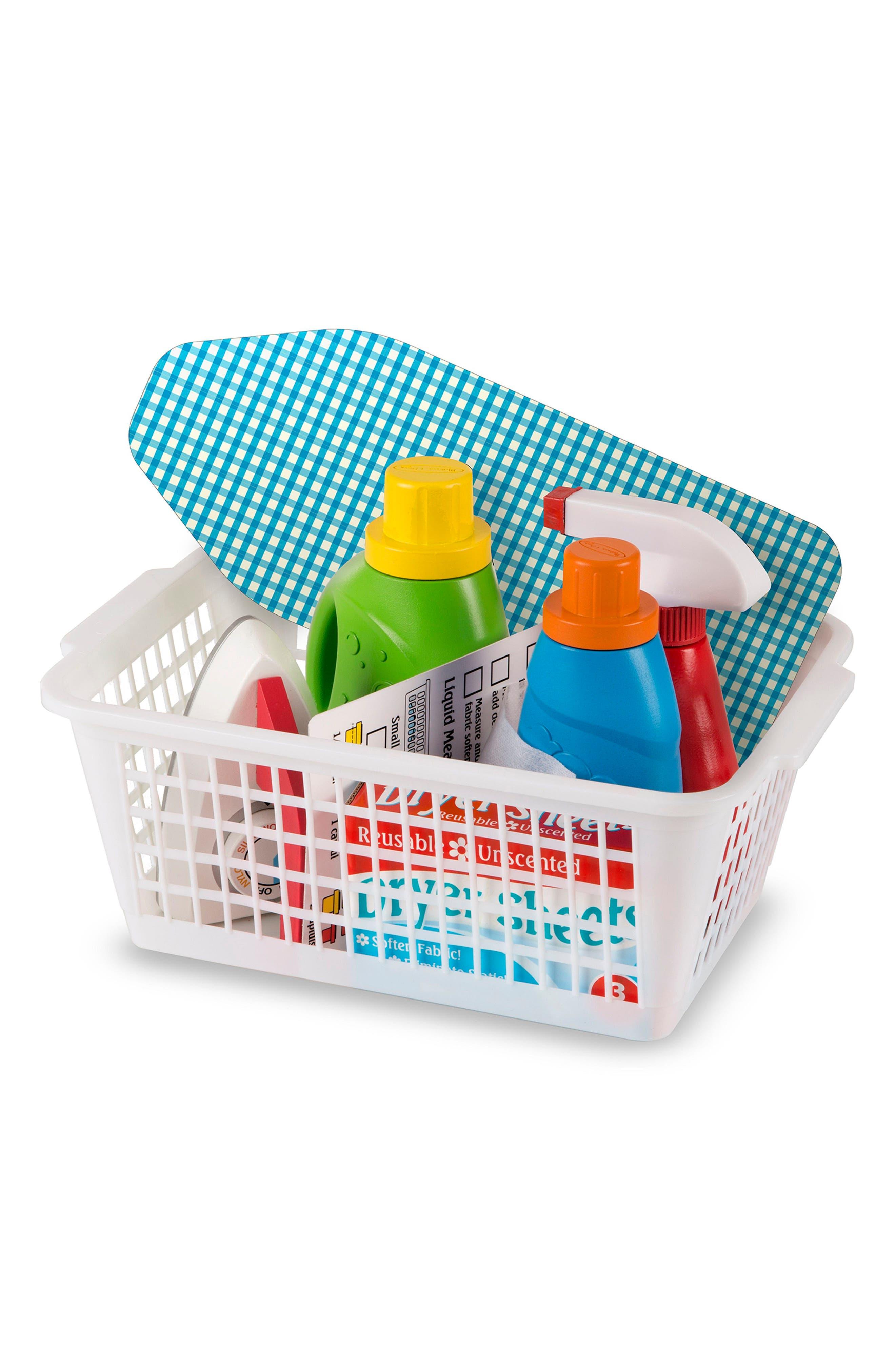 11-Piece Laundry Basket Play Set,                             Alternate thumbnail 3, color,                             MULTI