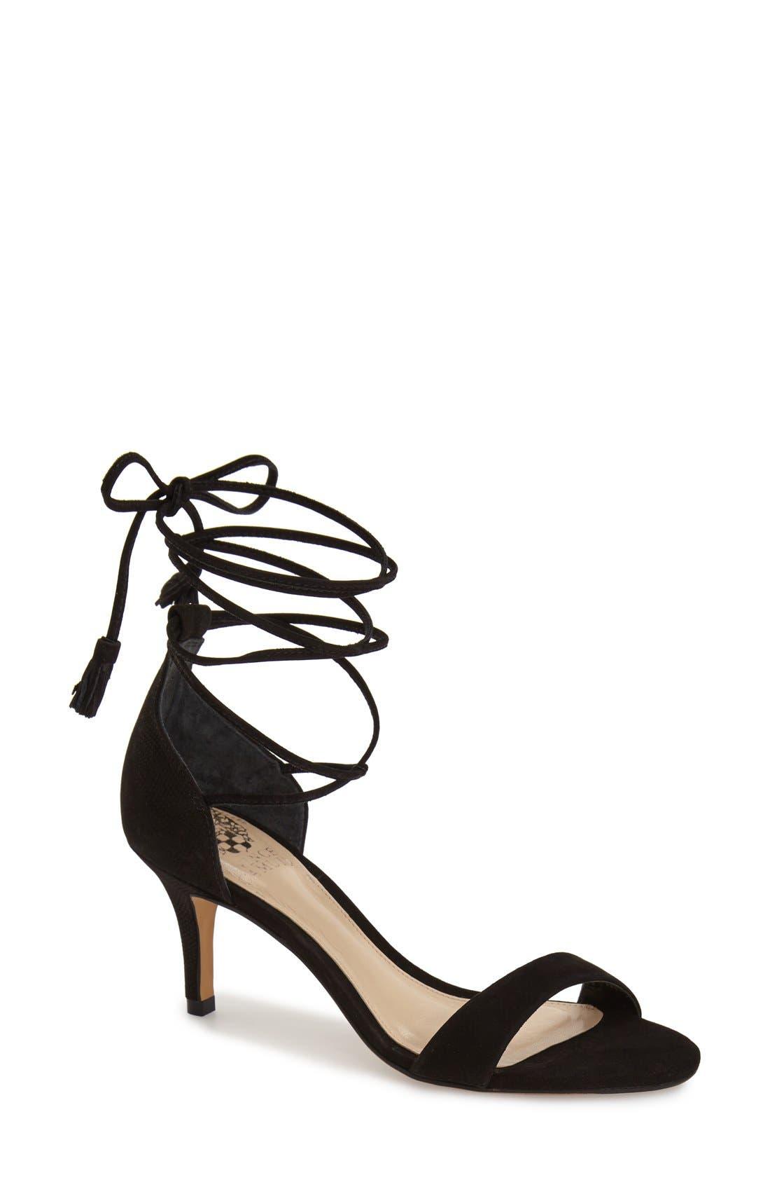 'Kathin' Lace-Up Sandal,                         Main,                         color, 001