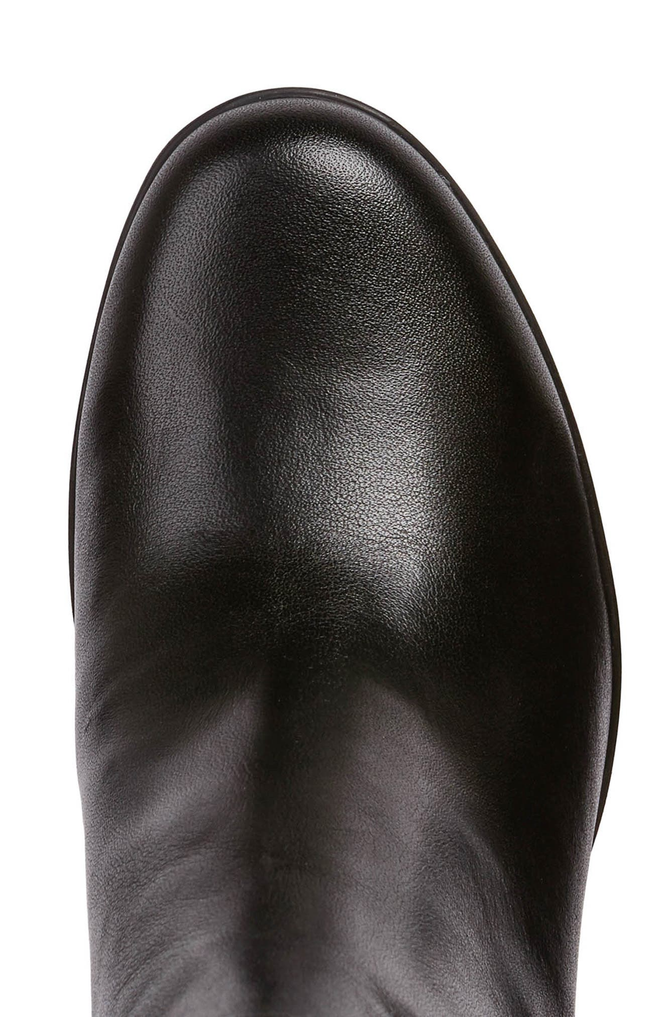 Annya Bootie,                             Alternate thumbnail 5, color,                             BLACK LEATHER
