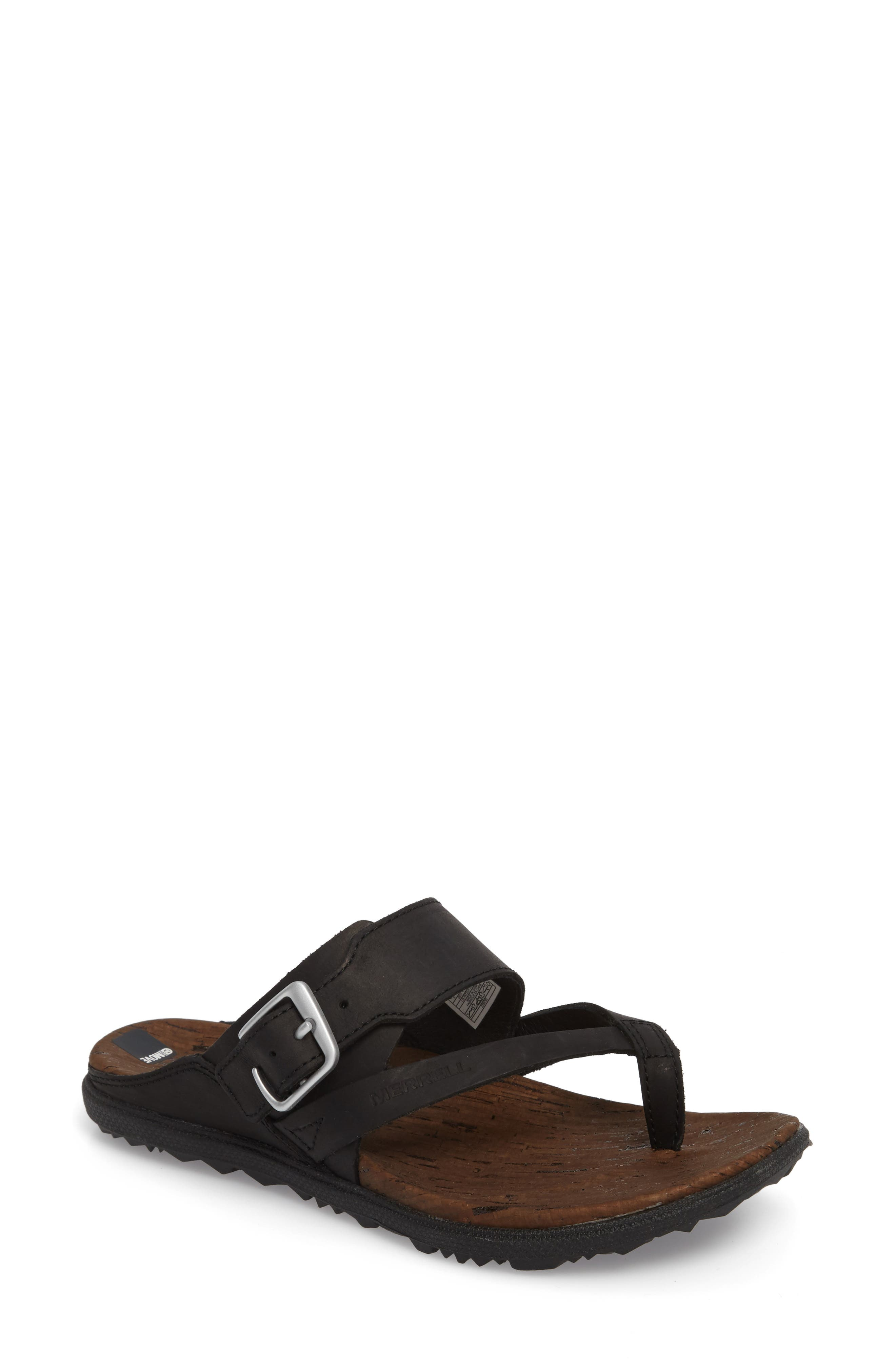 Around Town Buckle Slide Sandal,                         Main,                         color, 001