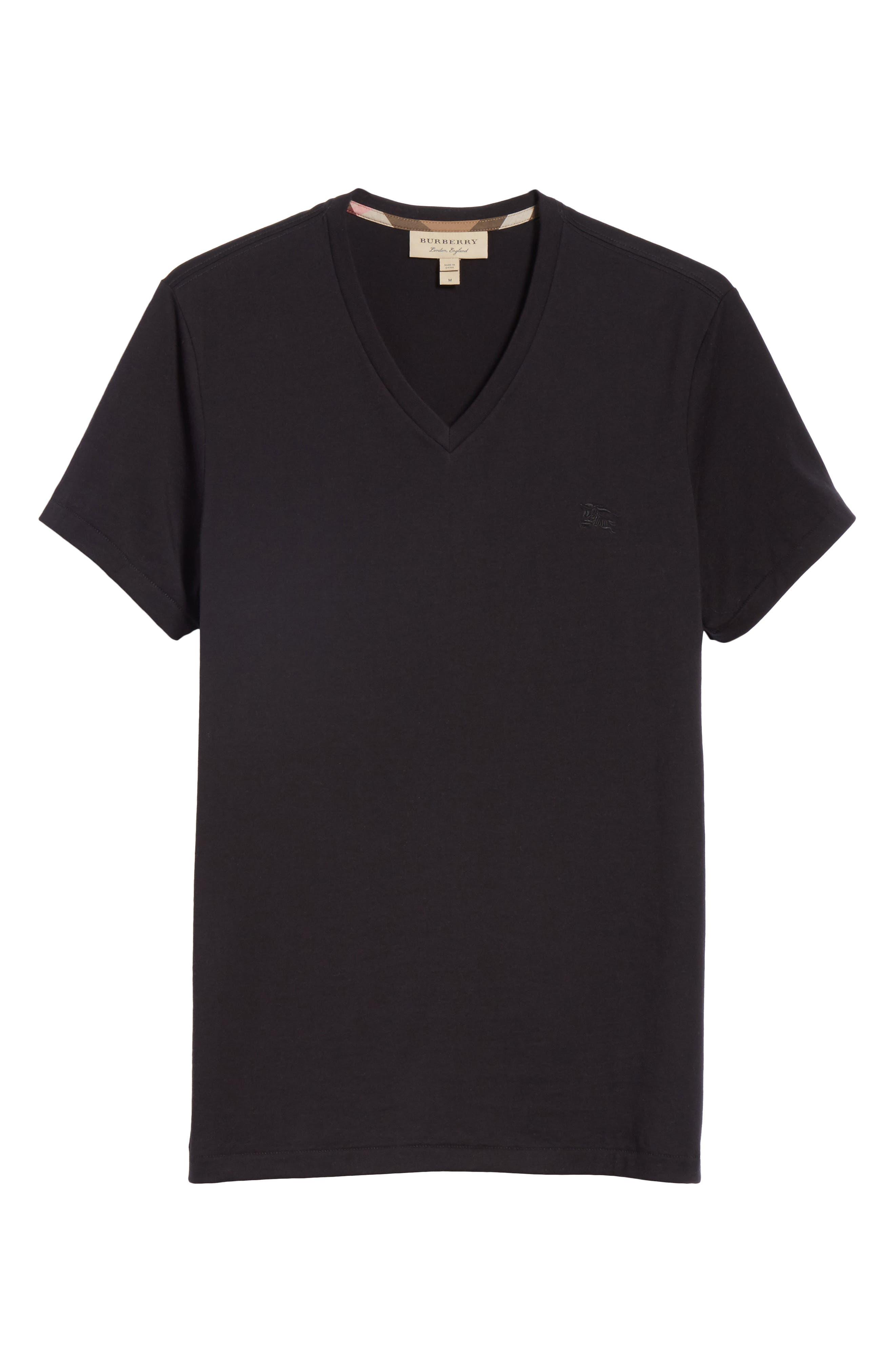 Jadforth V-Neck T-Shirt,                             Alternate thumbnail 6, color,                             BLACK