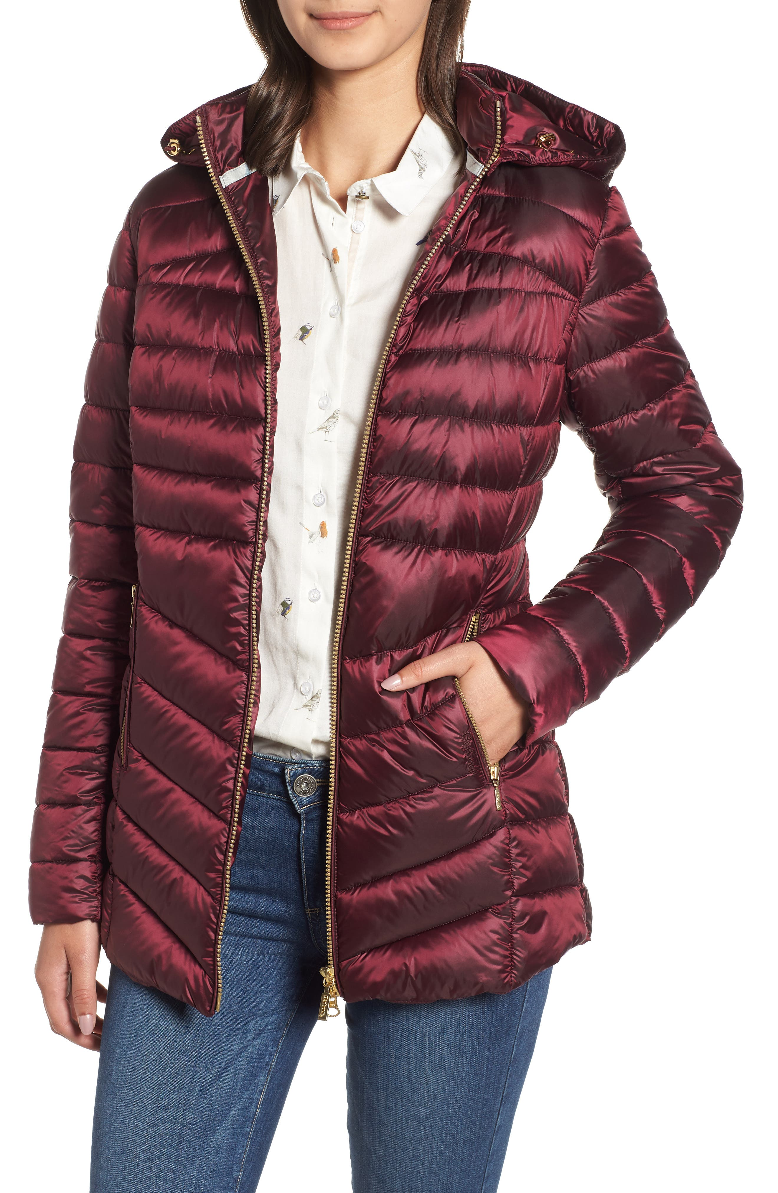 Barbour Ailith Quilted Jacket, US / 16 UK - Pink
