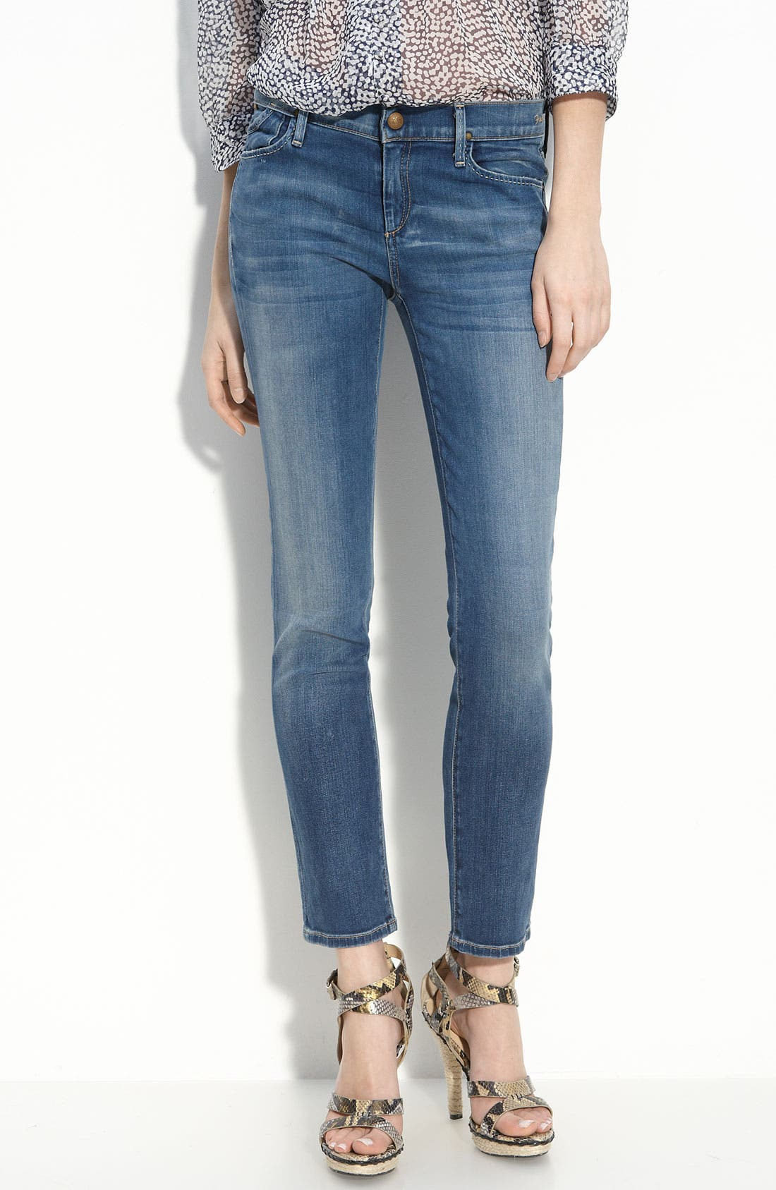 'Frontier' Crop Skinny Stretch Jeans, Main, color, 424