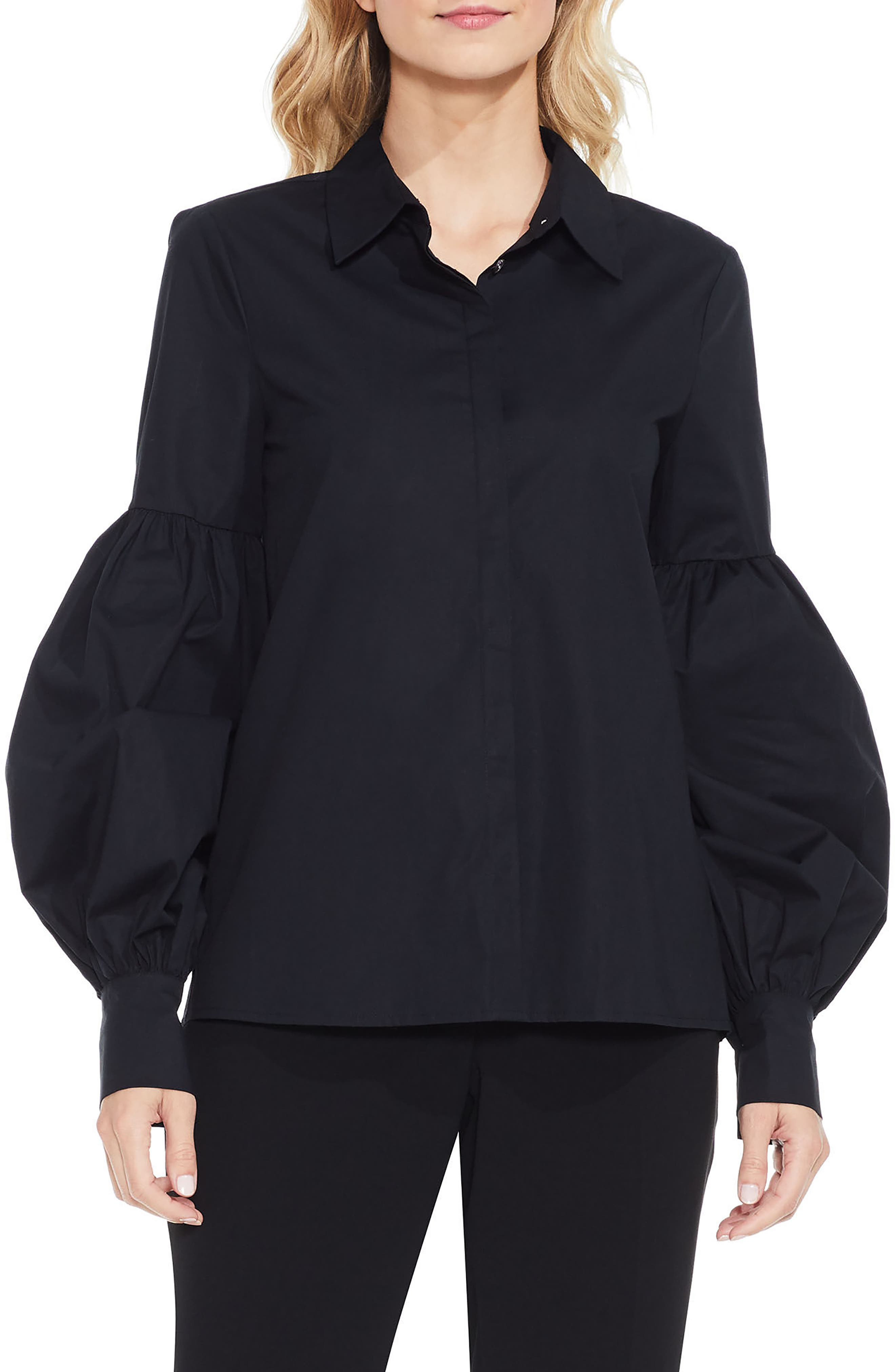 Puff Sleeve Shirt, Main, color, 010