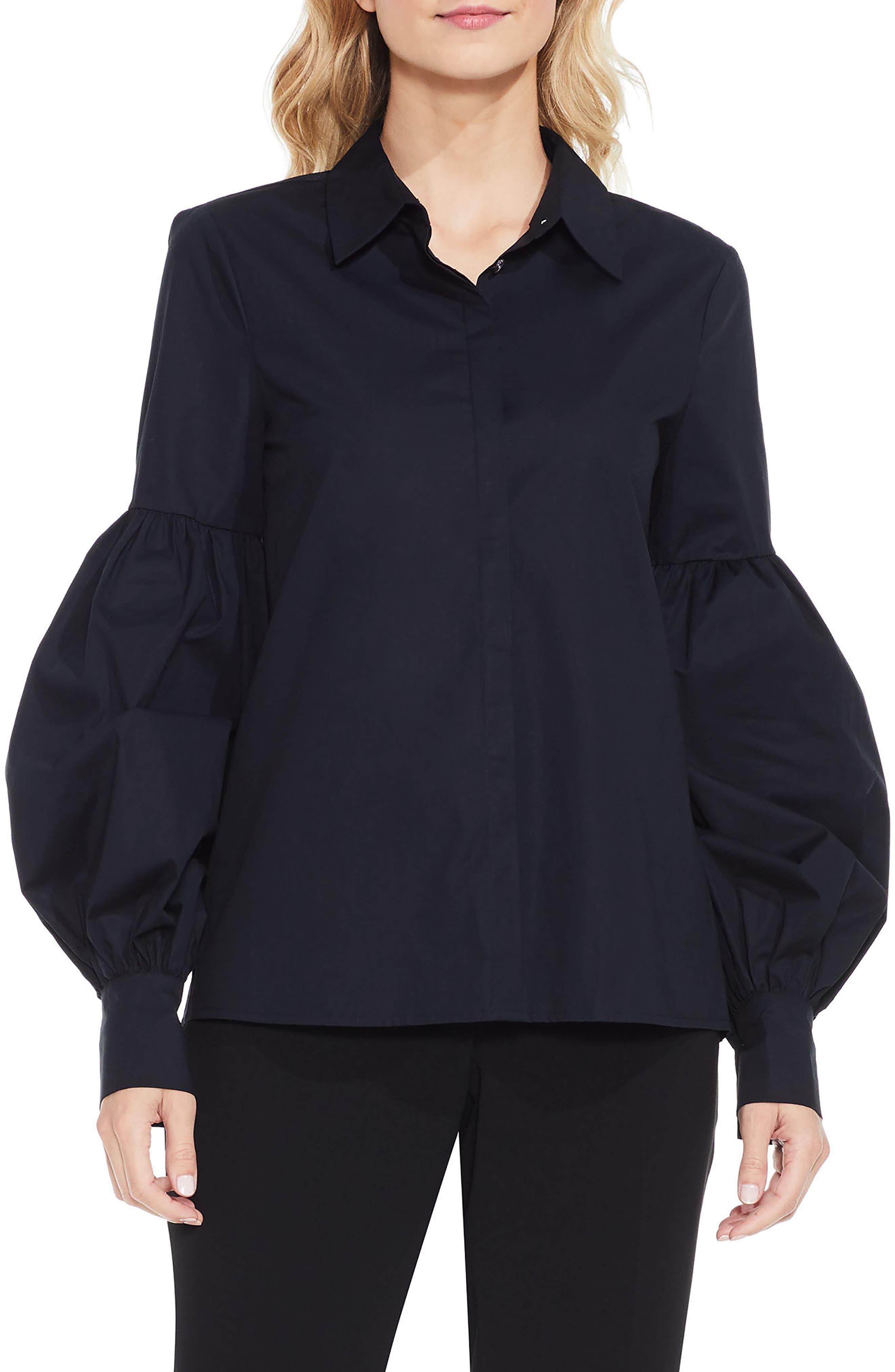 Puff Sleeve Shirt,                         Main,                         color, 010