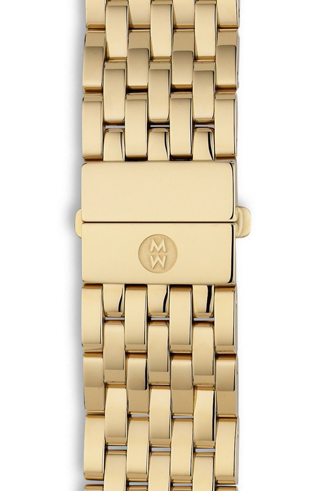 Deco 18mm Gold Plated Bracelet Watchband,                             Alternate thumbnail 5, color,                             GOLD