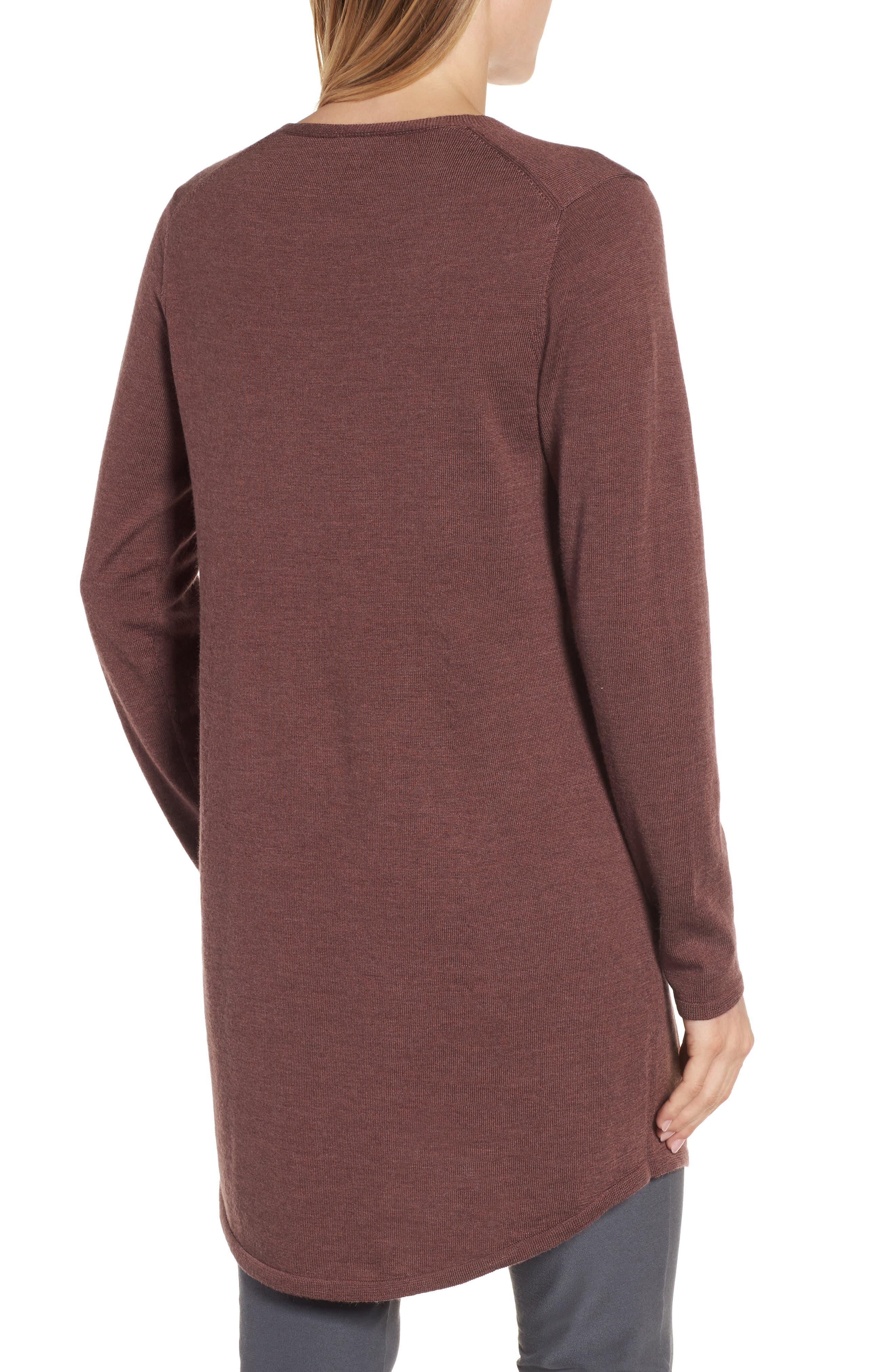 Lightweight Merino Jersey V-Neck Tunic,                             Alternate thumbnail 35, color,