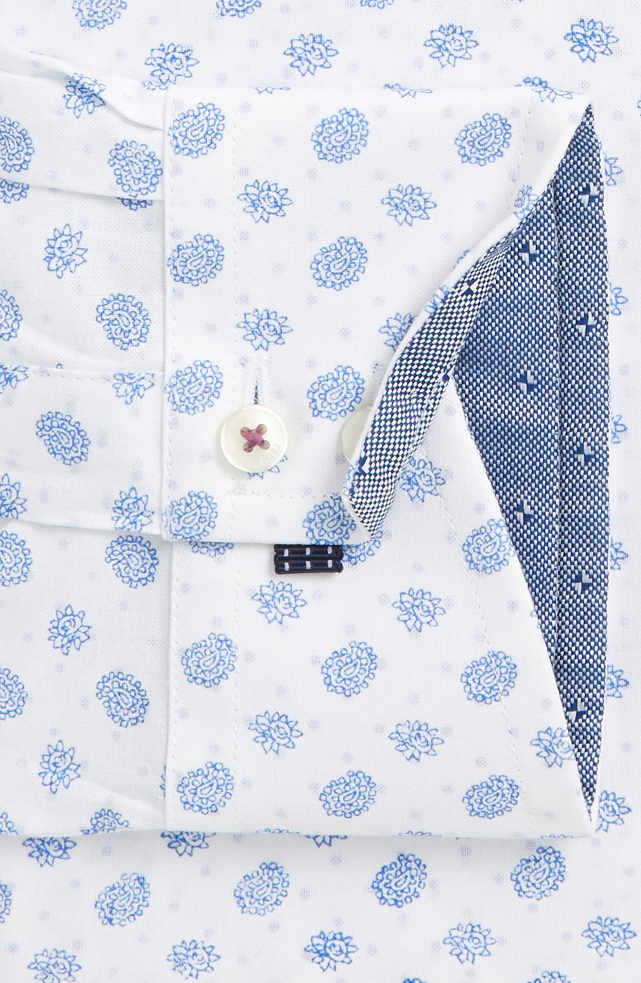 Midra Trim Fit Paisley Dress Shirt,                             Alternate thumbnail 3, color,                             110