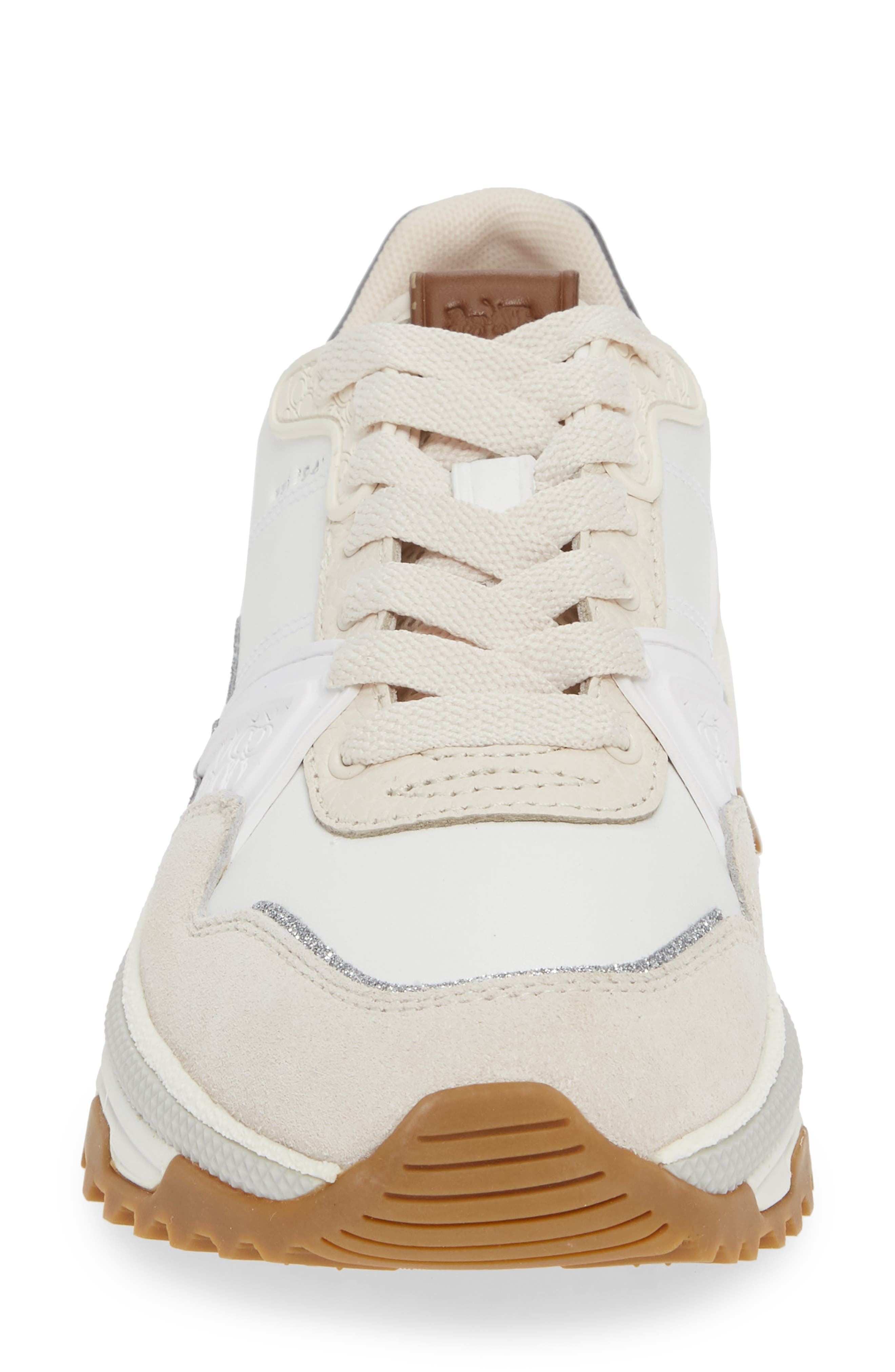 GLT Sneaker,                             Alternate thumbnail 4, color,                             WHITE LEATHER/ SUEDE