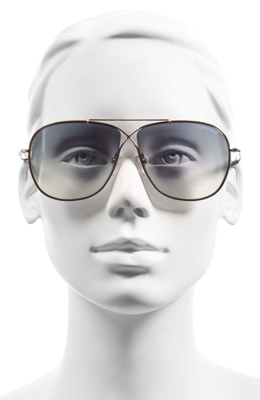 'April' 61mm Retro Sunglasses,                             Alternate thumbnail 7, color,