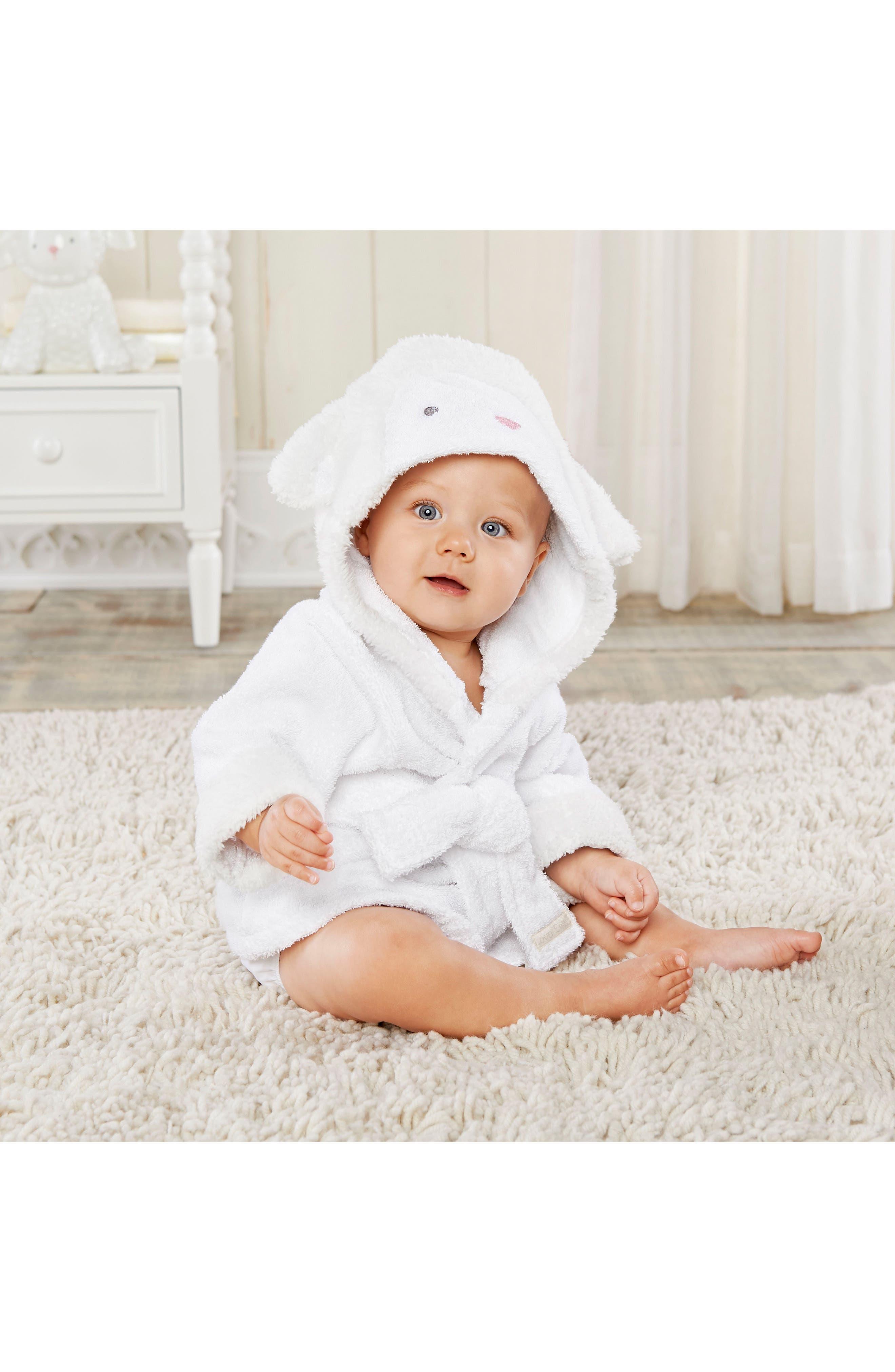 Lamb Hooded Robe & Blanket,                             Alternate thumbnail 2, color,                             WHITE