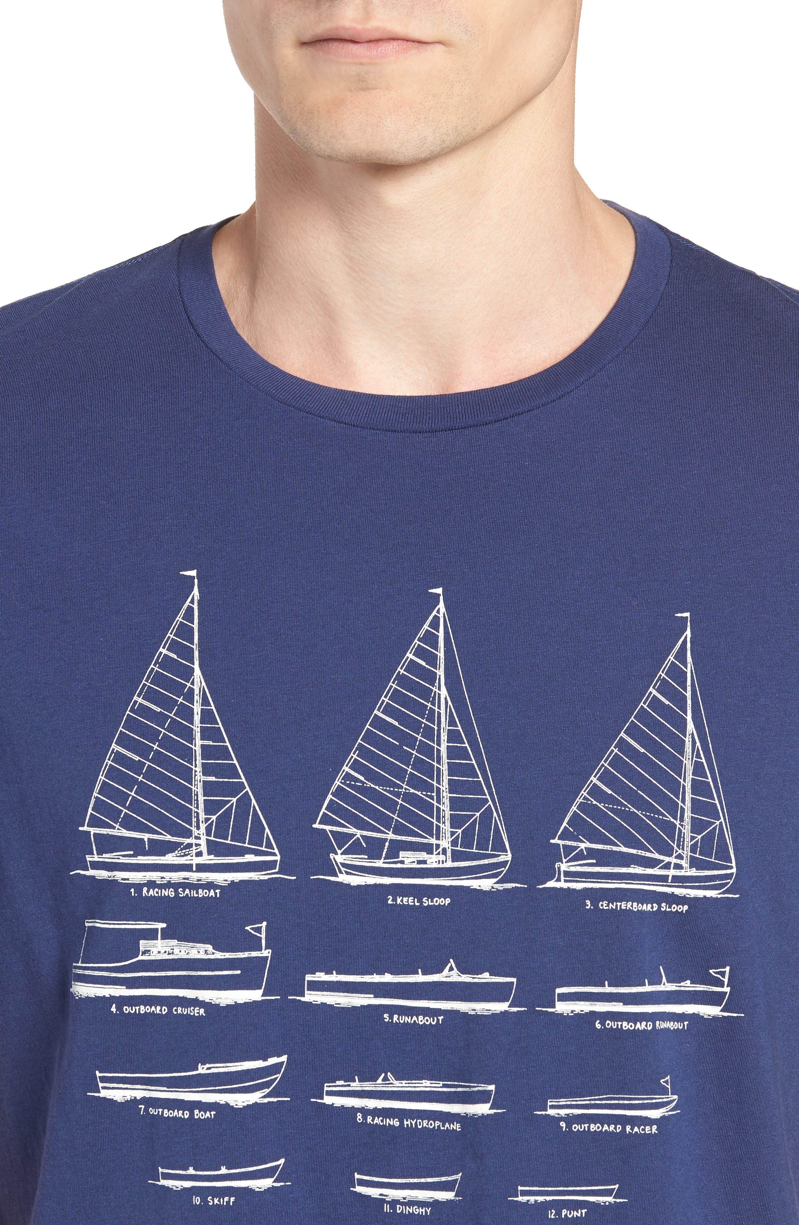 Mercantile Sailboat Graphic T-Shirt,                             Alternate thumbnail 4, color,                             400