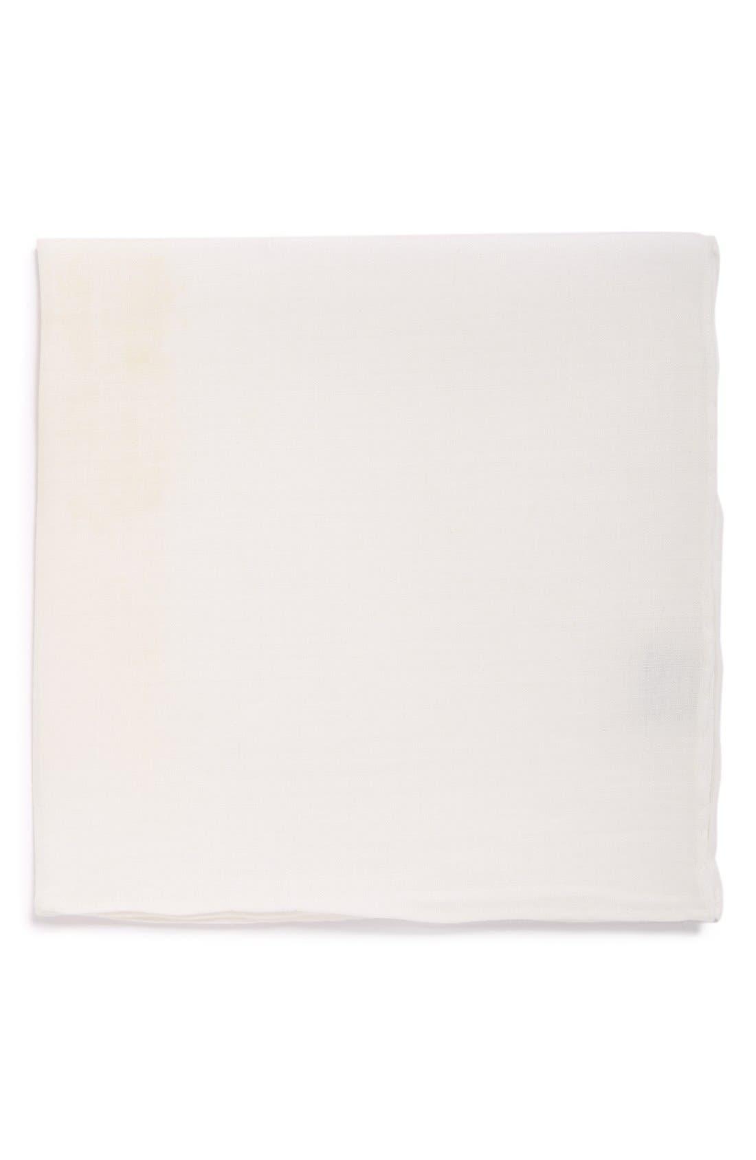 Solid Linen Pocket Square,                         Main,                         color,